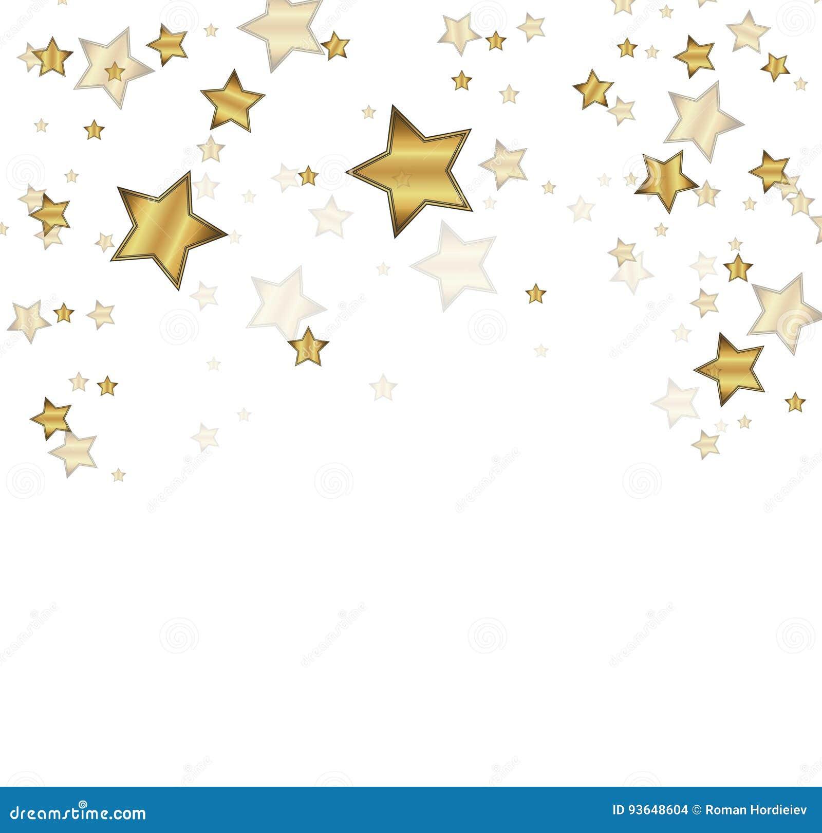 Vektorkonfettibakgrund för lyxigt hälsningrichkort Guld- konfettiberöm, fallande guld- abstrakt garnering för parti,