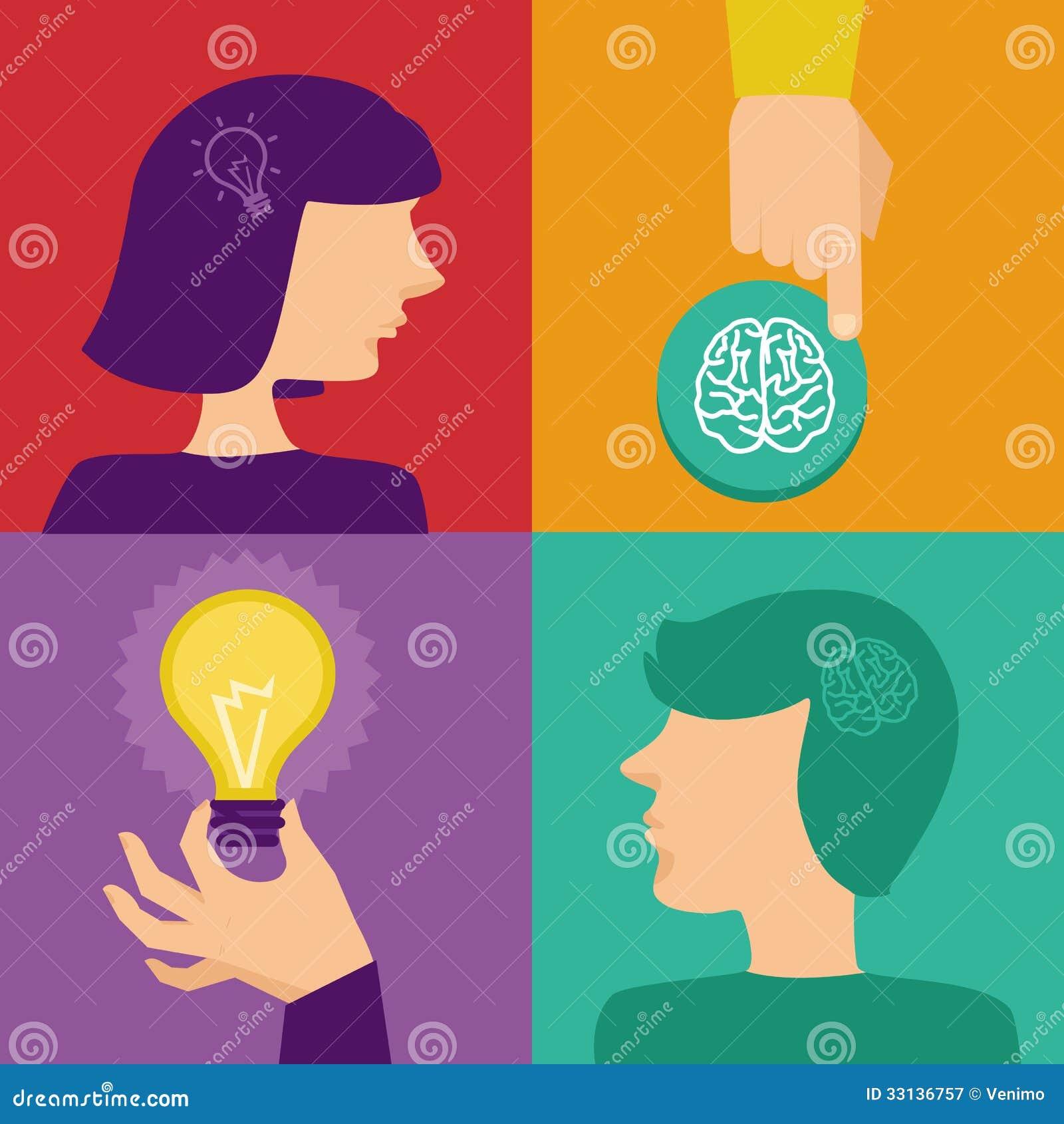 Vektorkreativität und Brainstormingkonzept