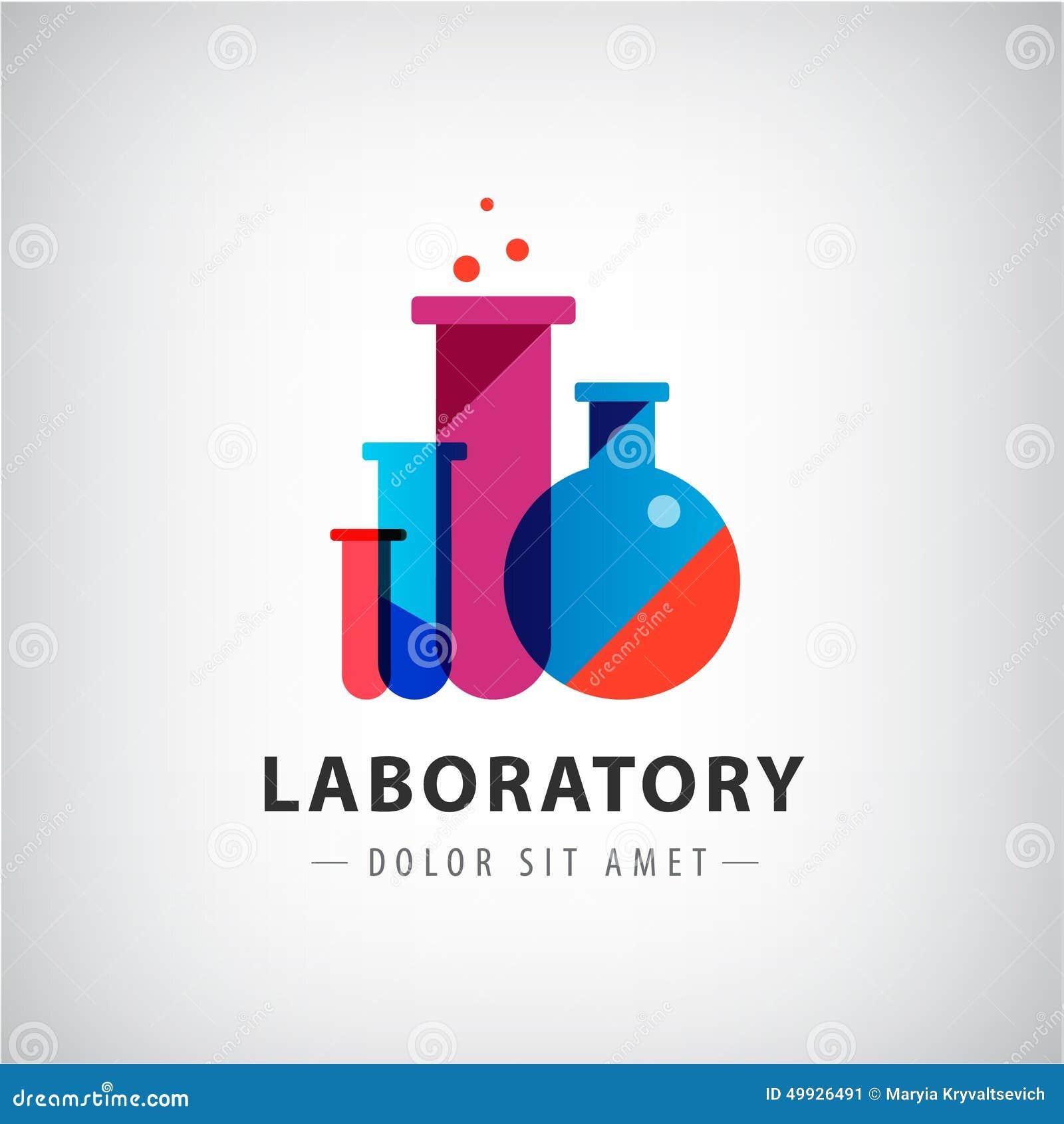 Vektorlaboratorium, kemikalie, logo för medicinskt prov