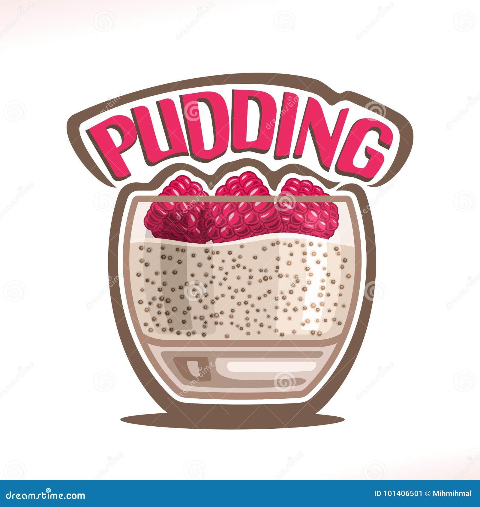 Vektorlogo för pudding