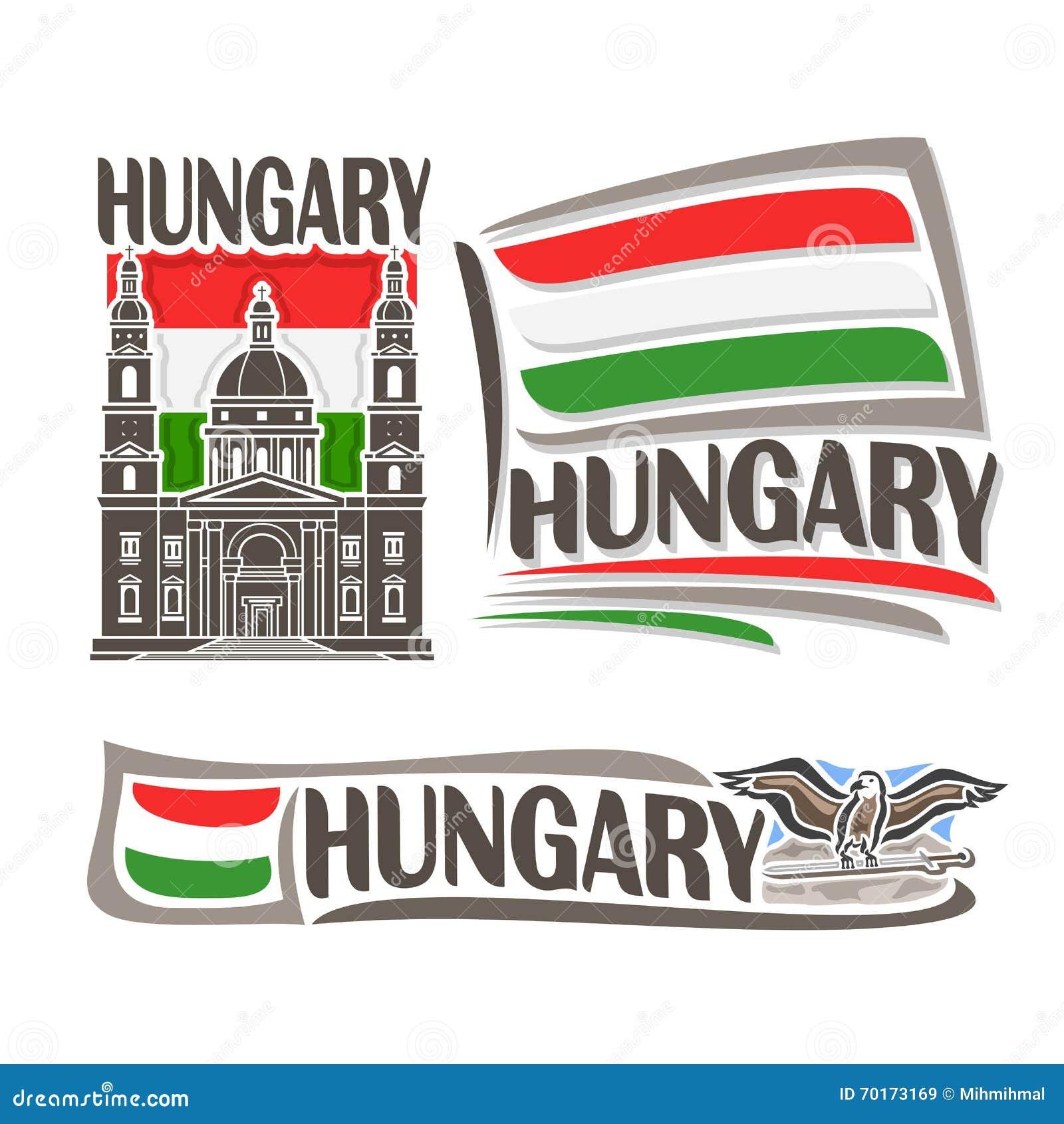 Vektorlogo för Ungern