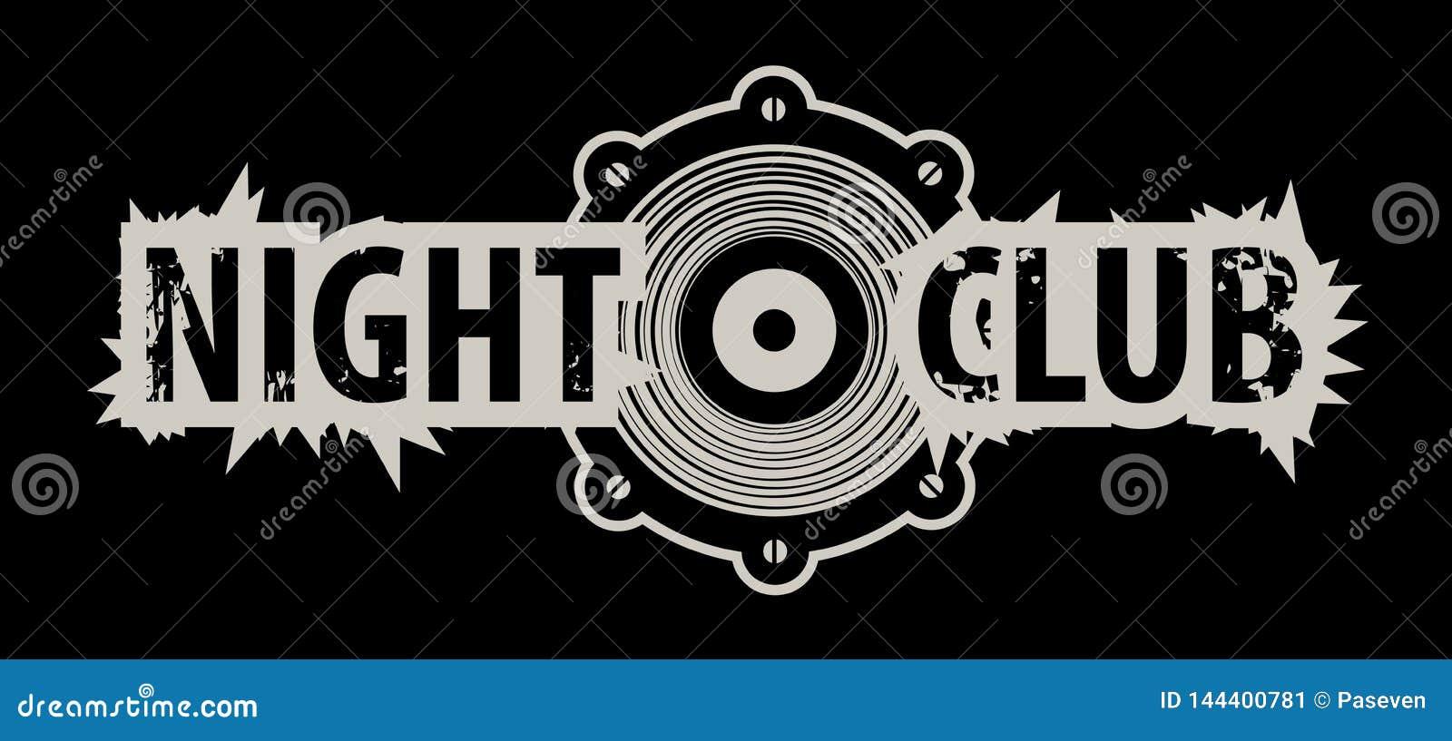 Vektorlogo f?r en nattklubb med h?gtalaren