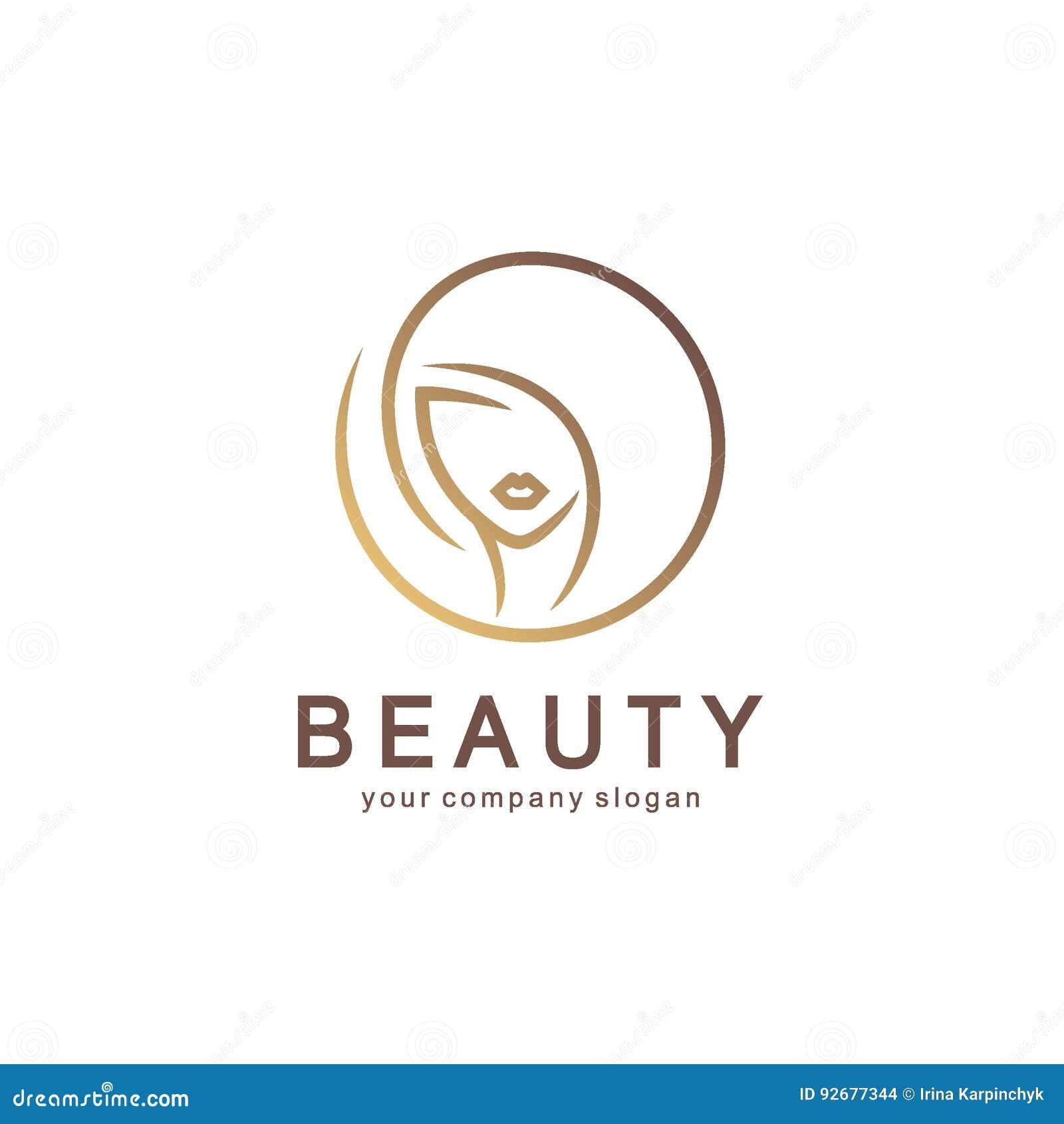 Vektorlogodesign für Schönheitssalon, Friseursalon, Kosmetik