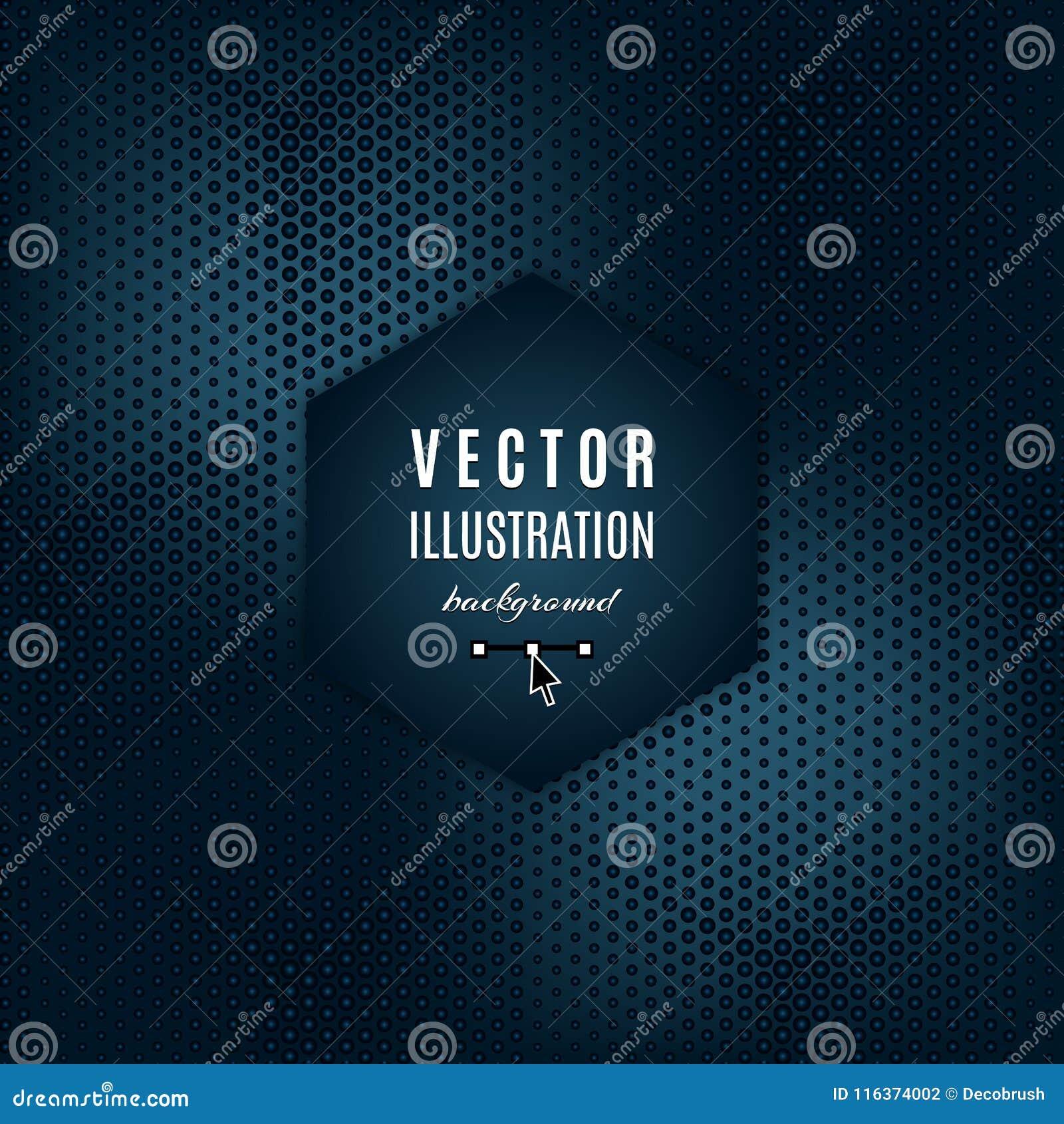 Vektormörker - abstrakt begreppbakgrund för blåa grå färger Geometrisk futuristisk affisch med ljusa effekter Ställe för text, mo