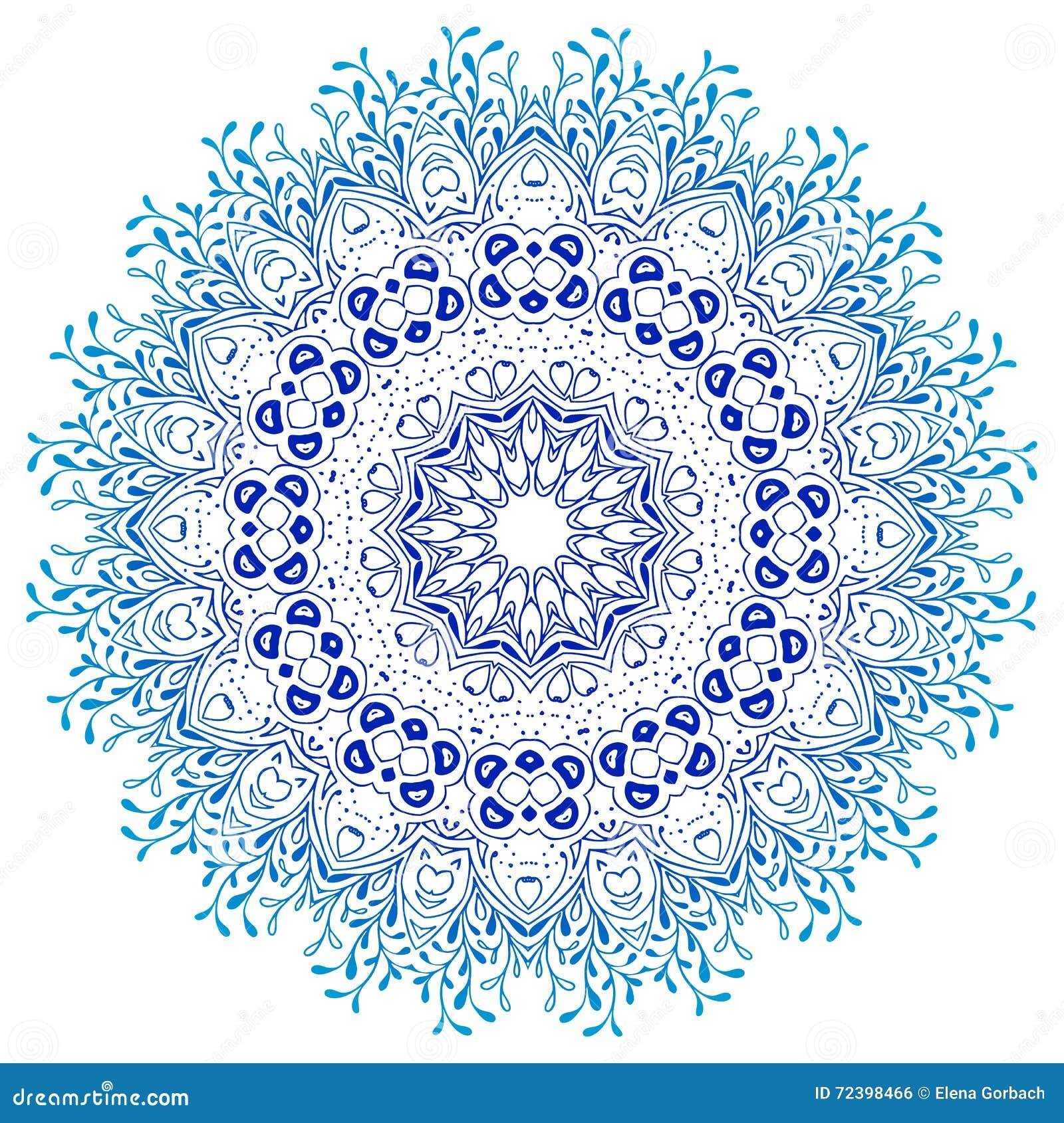 Vektormandalaprydnad rund blom- modell