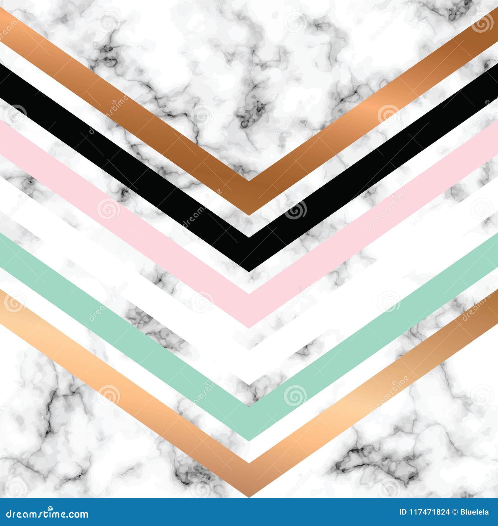 Vektormarmorbeschaffenheitsdesign mit goldenen geometrischen Linien, marmornde Schwarzweiss-Oberfläche, moderner luxuriöser Hinte