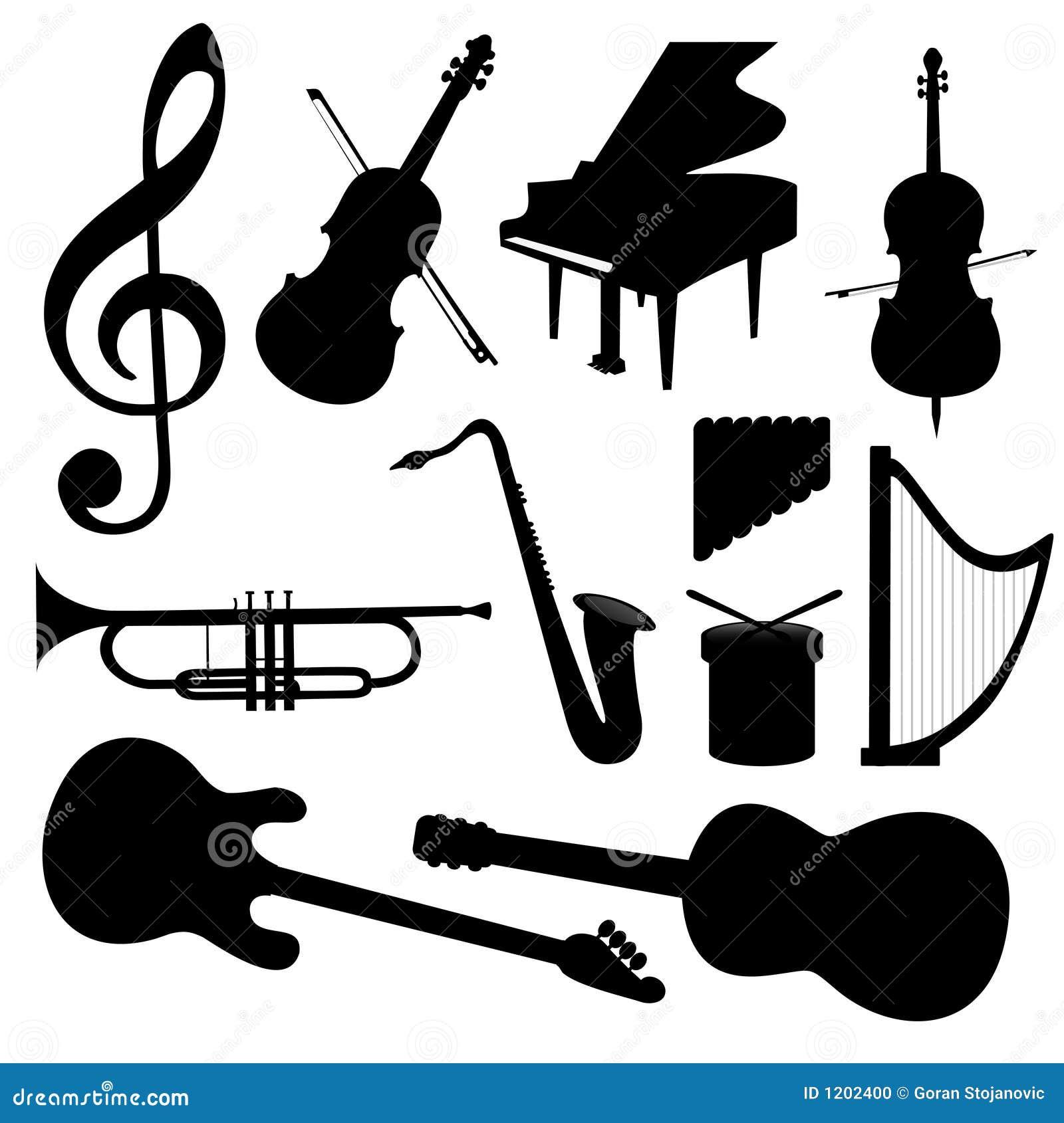 Vektormusik-Instrumente - Schattenbild