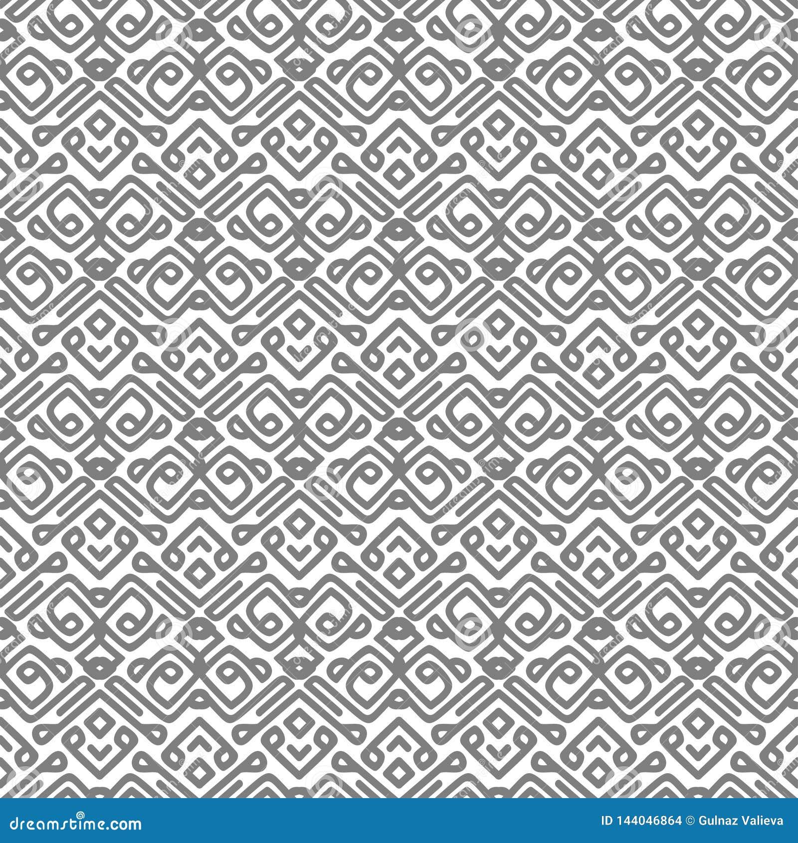 Vektormuster mit grauen glatten Linien