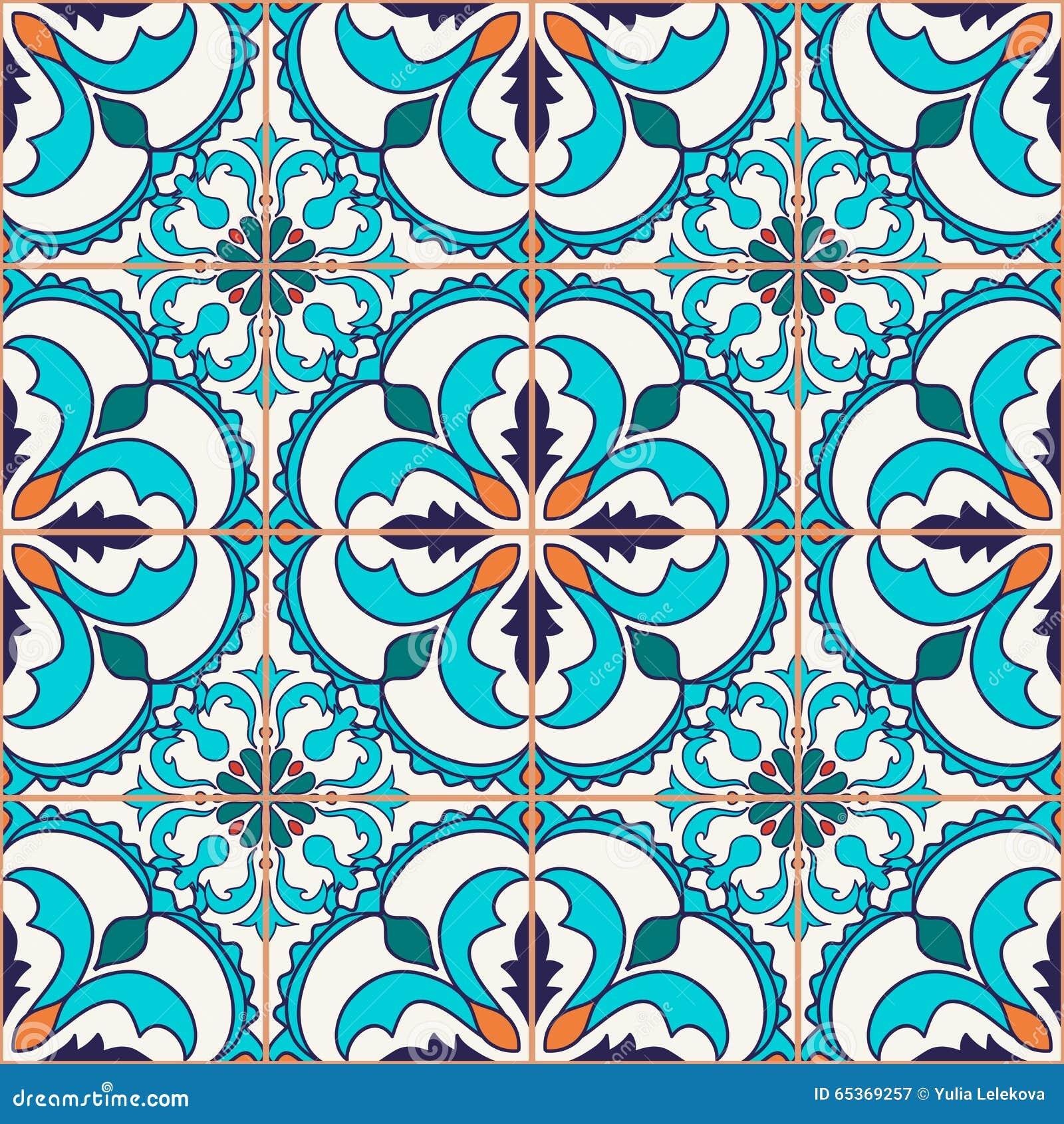 Vektornahtlose Beschaffenheit Schönes farbiges Muster für Design und Mode mit dekorativen Elementen