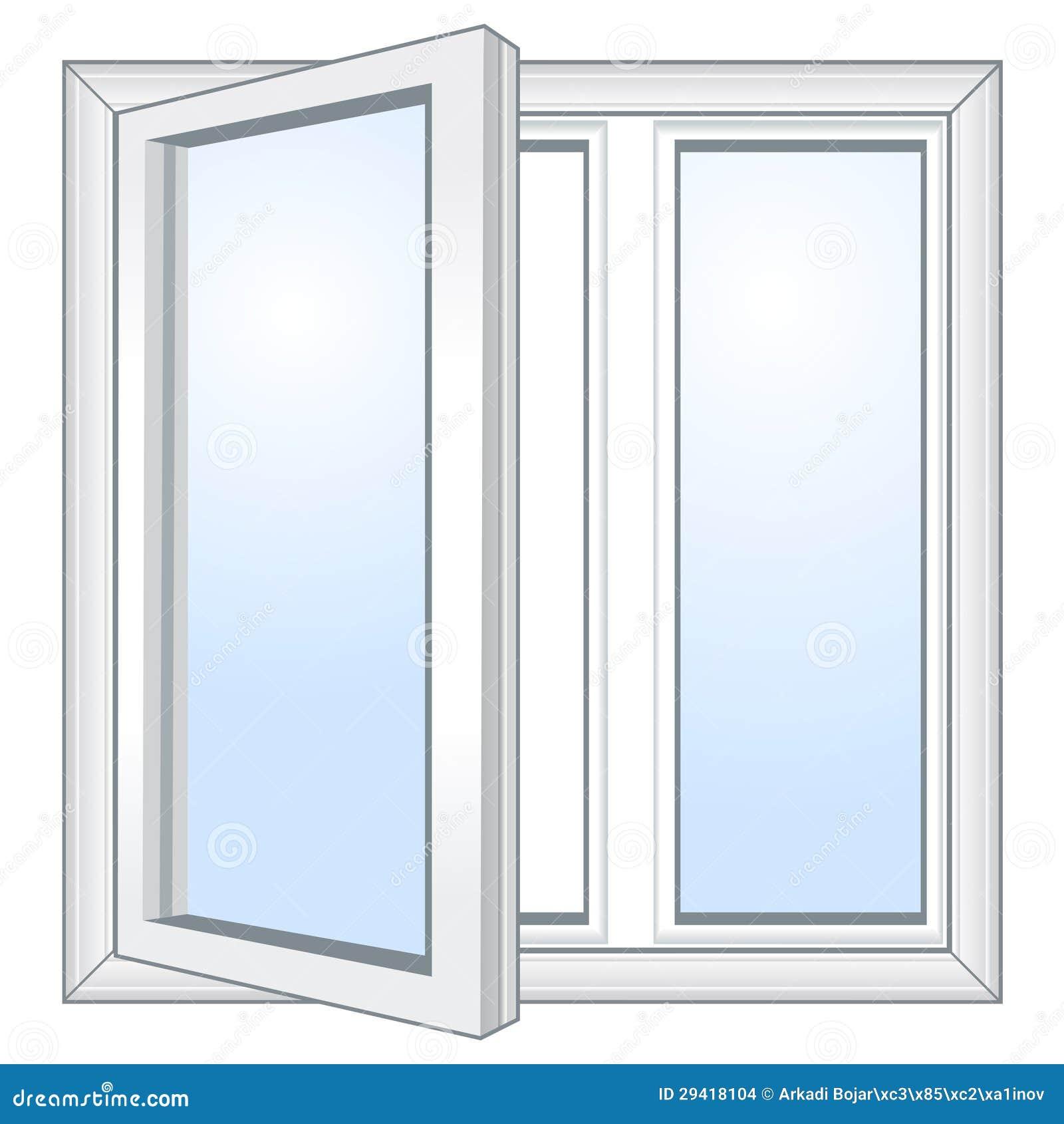 Offenes fenster gezeichnet  Vektoroffenes Fenster Stockbilder - Bild: 29418104