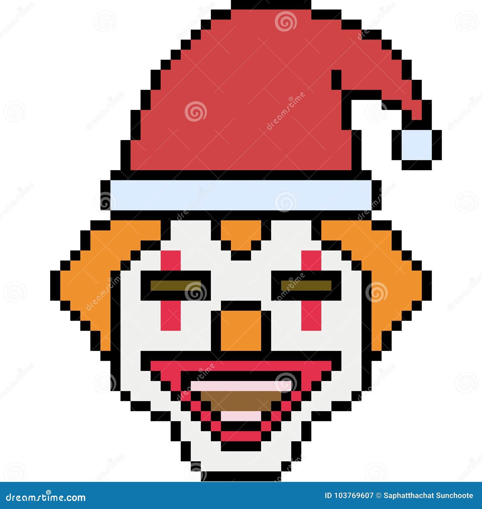 Vektorpixelkunst-Sankt-Clown