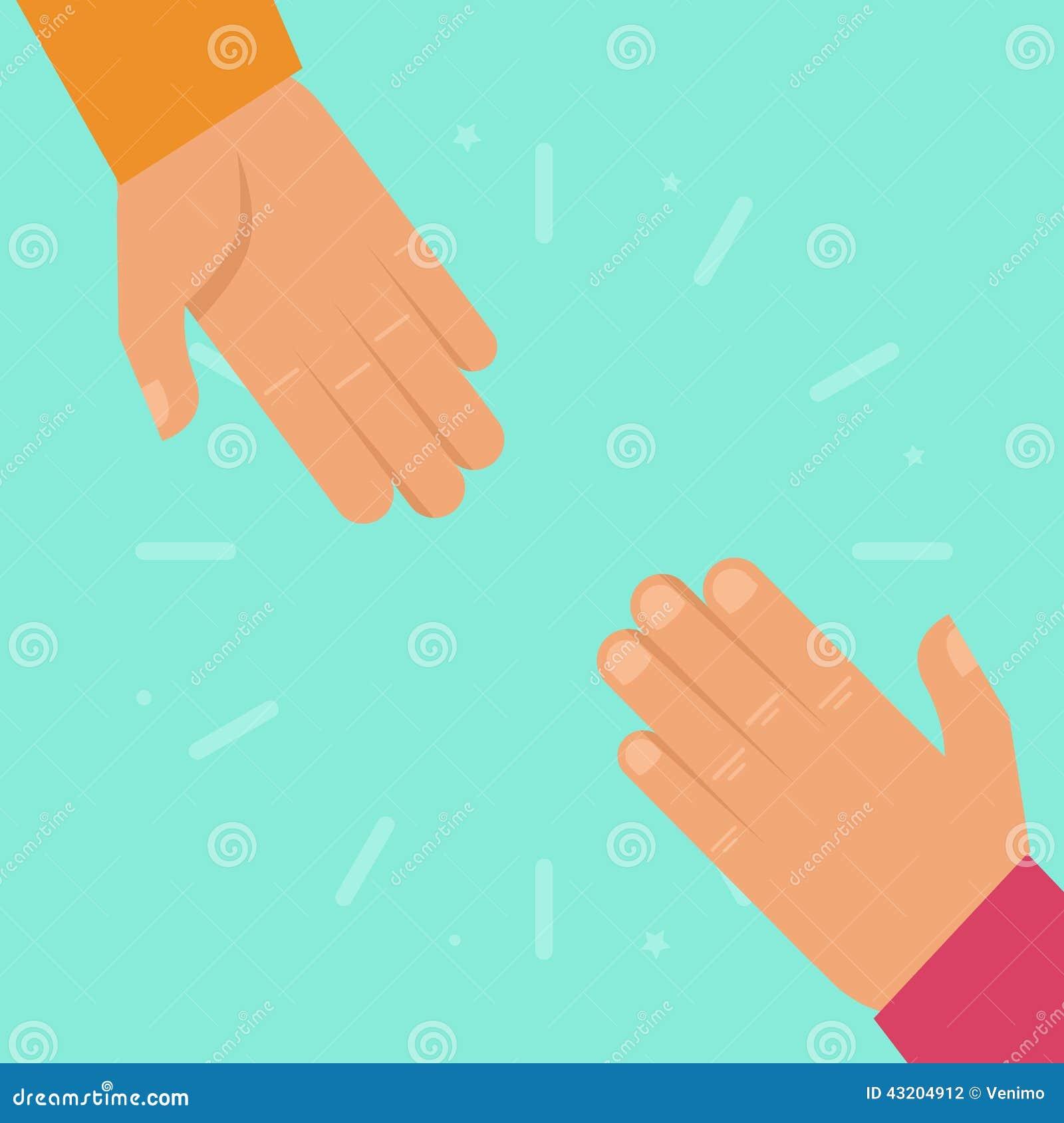 Download Vektorportionhänder I Plan Stil Vektor Illustrationer - Illustration av räddningsaktion, tecken: 43204912