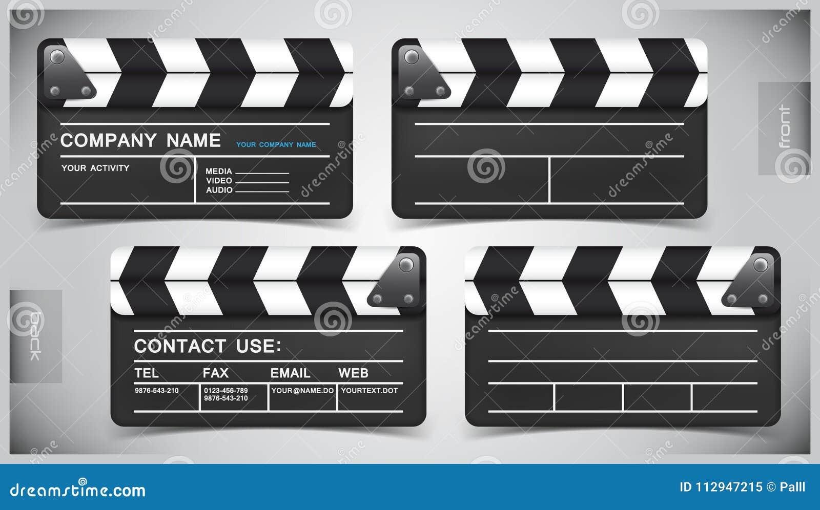 Vektorsatz Kreative Visitenkarten Vektor Abbildung