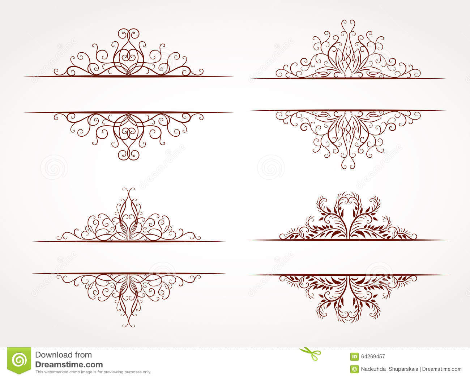 Vektorsatz Ornamentrahmen stockbild. Bild von elegant - 64269457