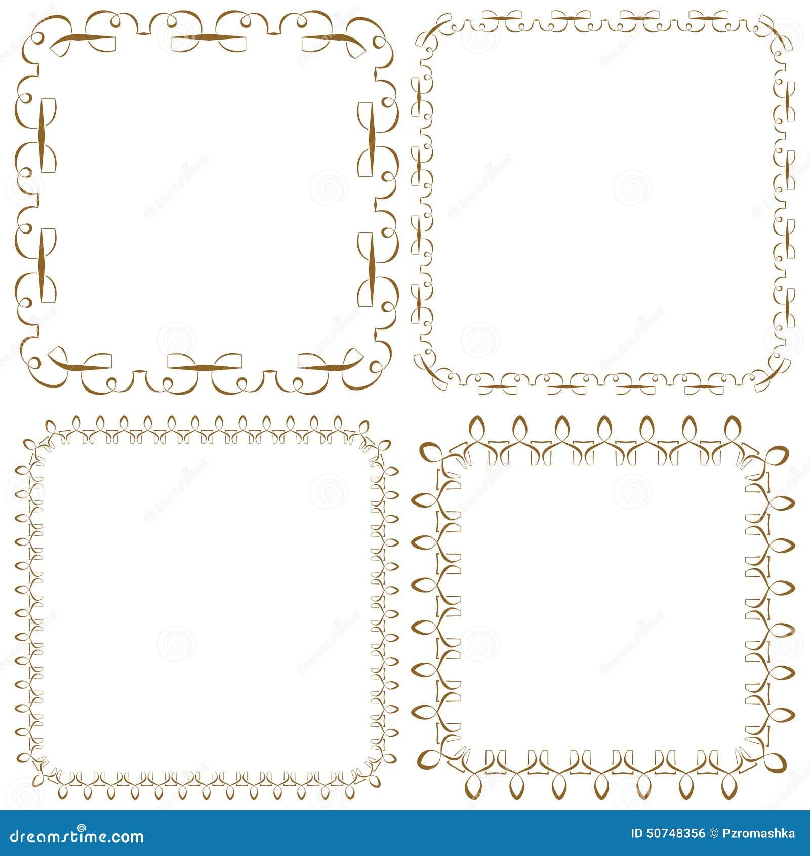 Vektorsatz Schöne Quadratische Rahmen Vektor Abbildung ...