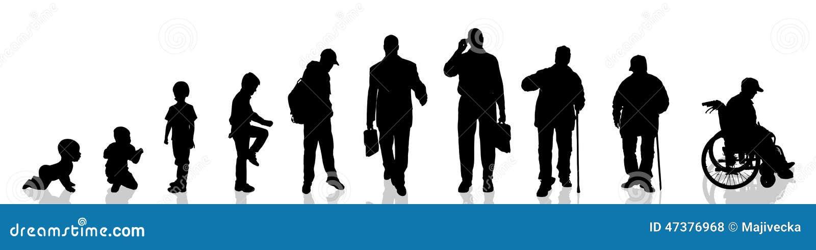 Vektorschattenbild des Mannes