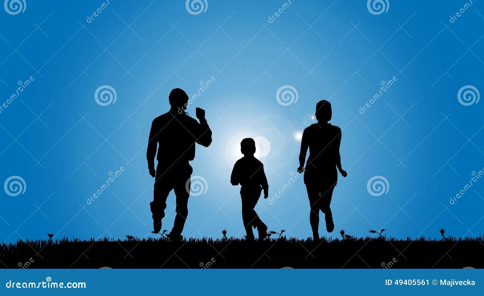 Download Vektorschattenbild Einer Familie Vektor Abbildung - Illustration von kind, mann: 49405561