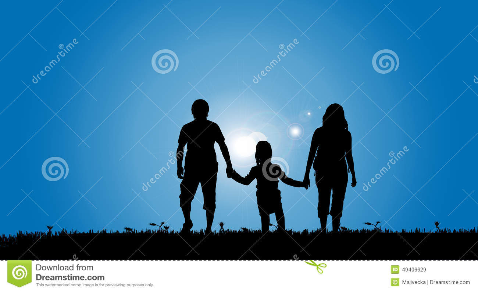 Download Vektorschattenbild Einer Familie Vektor Abbildung - Illustration von papa, abbildung: 49406629