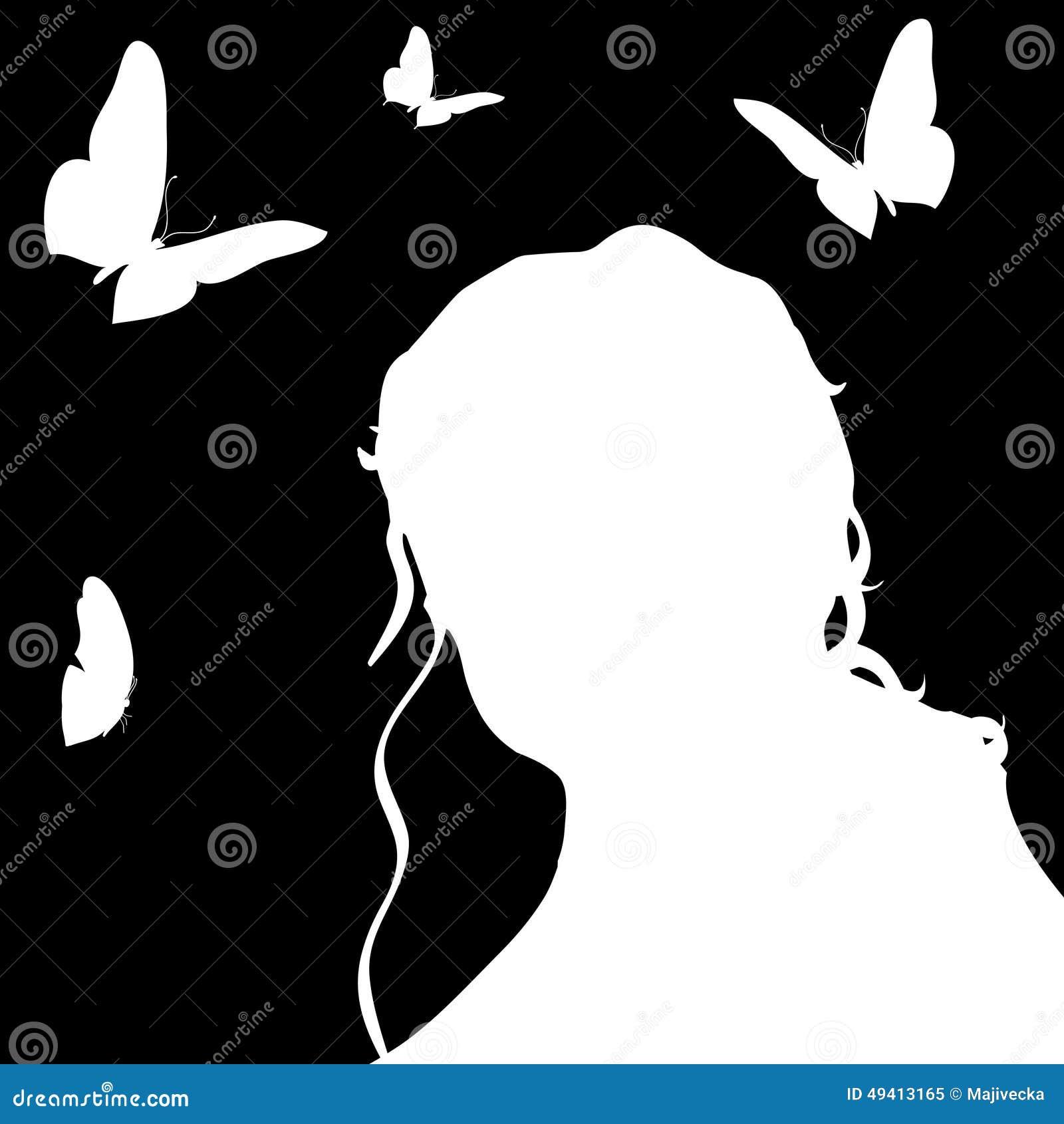 Download Vektorschattenbild Einer Frau Vektor Abbildung - Illustration von erwachsener, kunst: 49413165