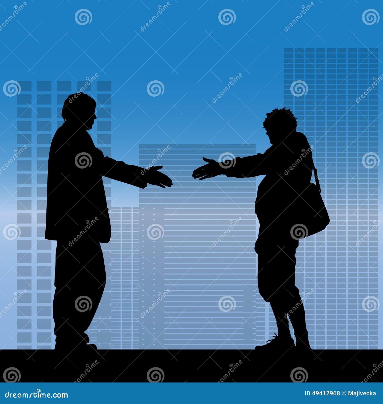 Download Vektorschattenbild Eines Geschäftsmannes Vektor Abbildung - Illustration von fachmann, teamwork: 49412968