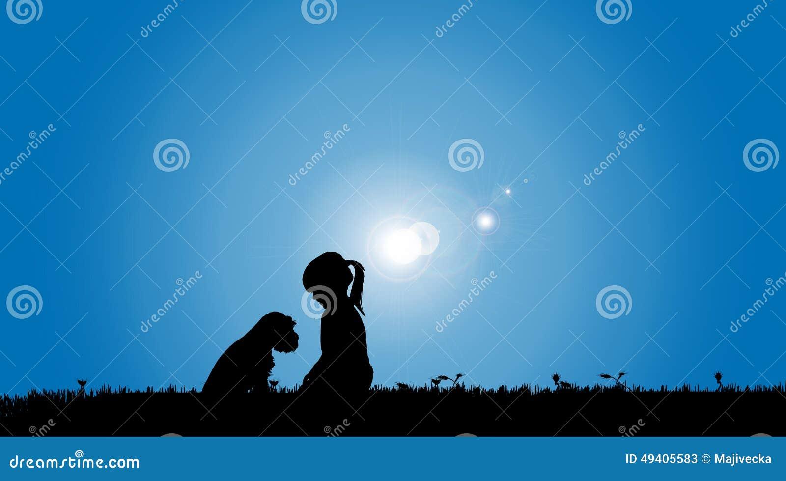 Download Vektorschattenbild Eines Mädchens Vektor Abbildung - Illustration von zusammen, blau: 49405583