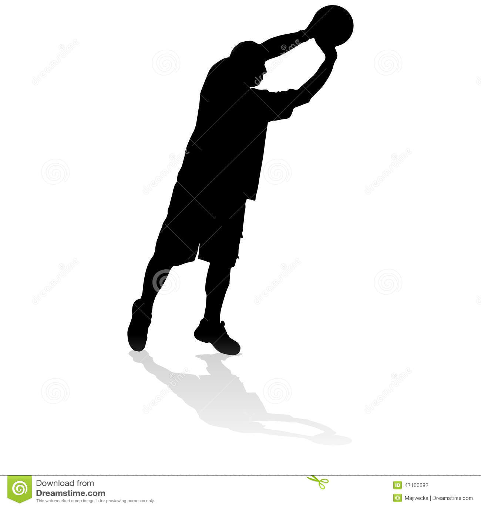 Vektorschattenbild eines Mannes
