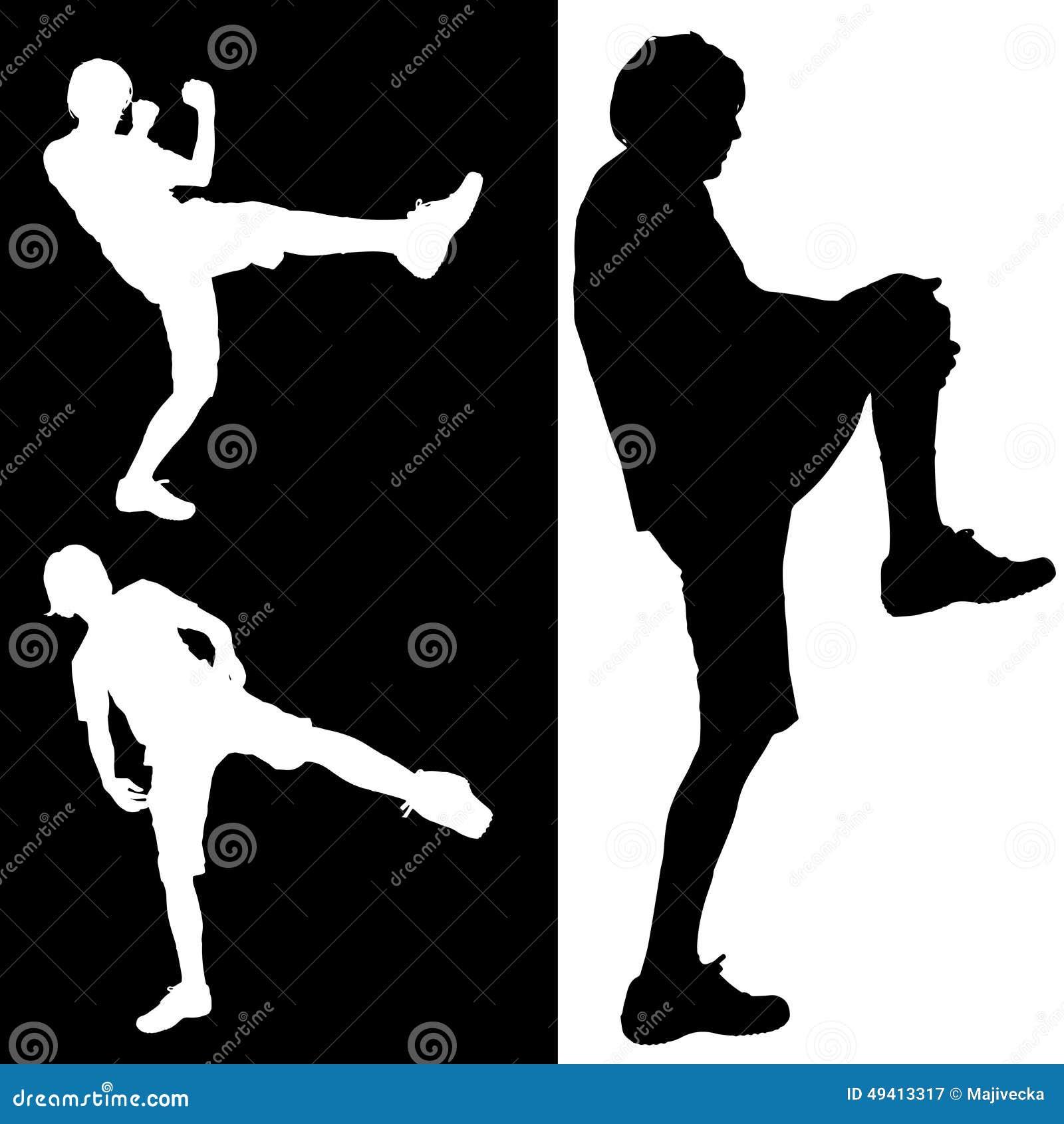 Download Vektorschattenbild Eines Mannes Vektor Abbildung - Illustration von turnhalle, übereinstimmung: 49413317