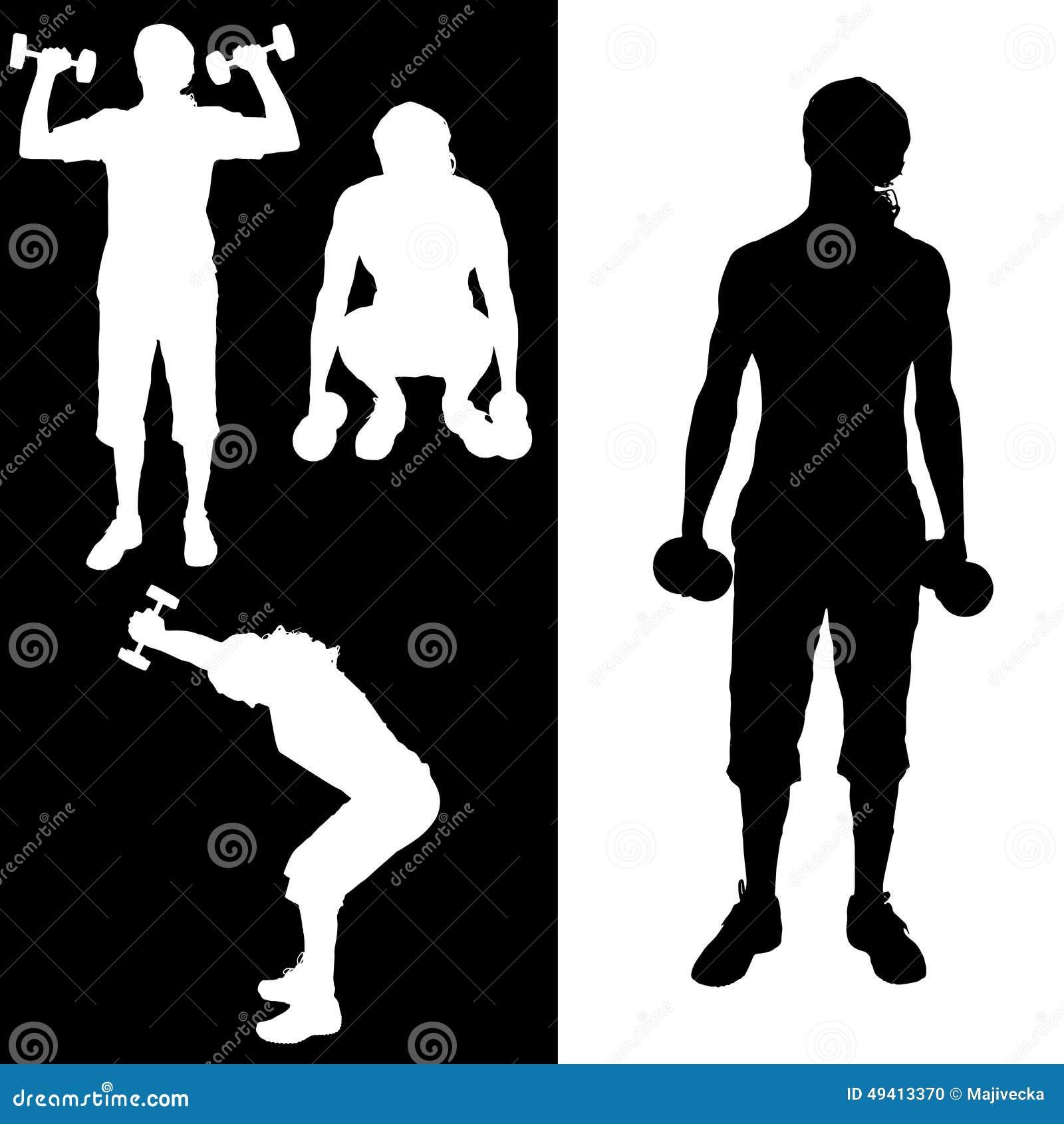 Download Vektorschattenbild Eines Mannes Vektor Abbildung - Illustration von verstärken, relax: 49413370