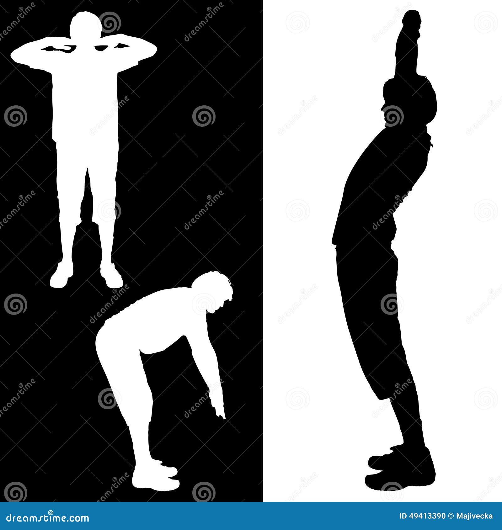 Download Vektorschattenbild Eines Mannes Vektor Abbildung - Illustration von gesund, frau: 49413390
