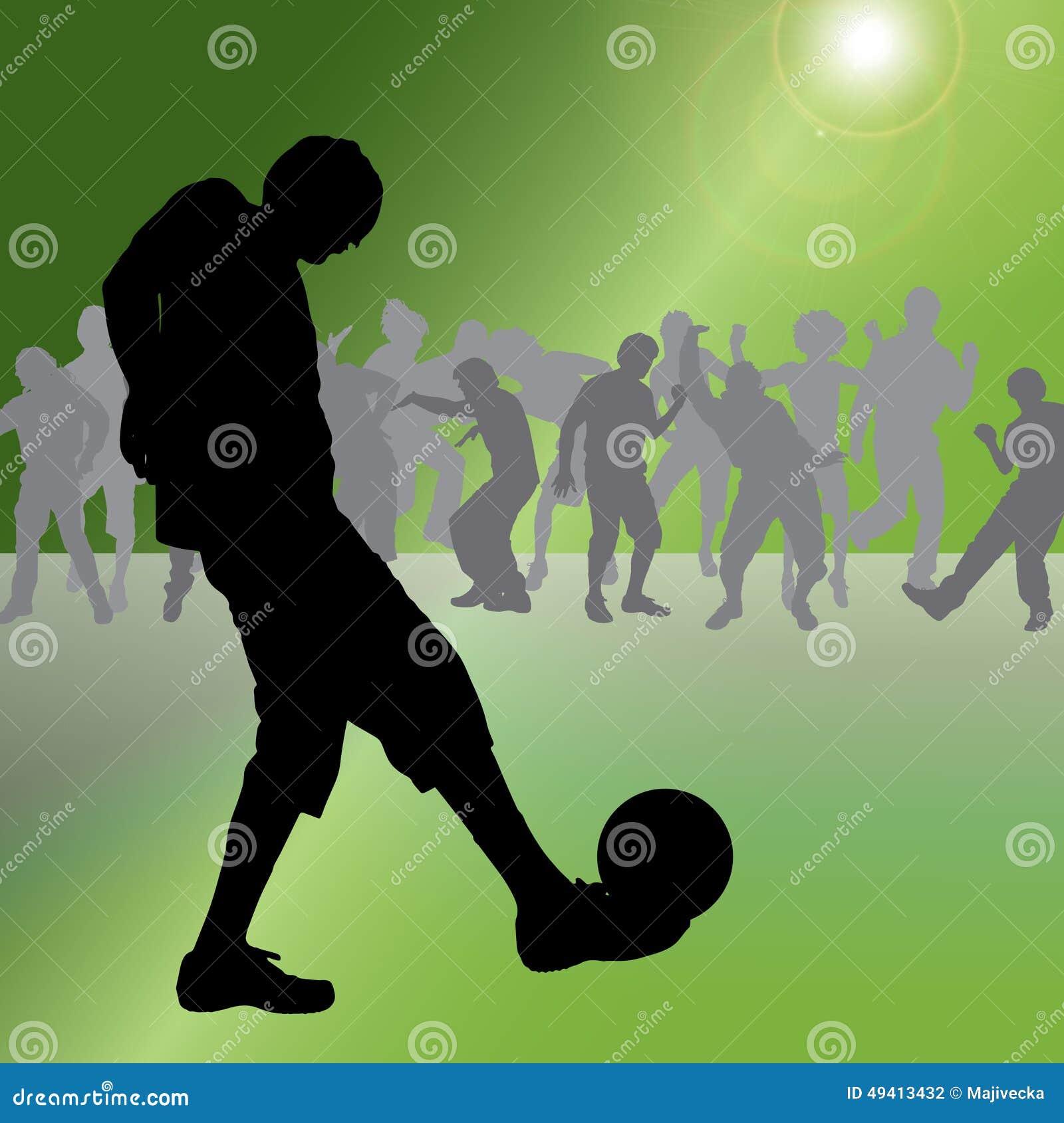 Download Vektorschattenbild Eines Mannes Vektor Abbildung - Illustration von footballer, kugel: 49413432