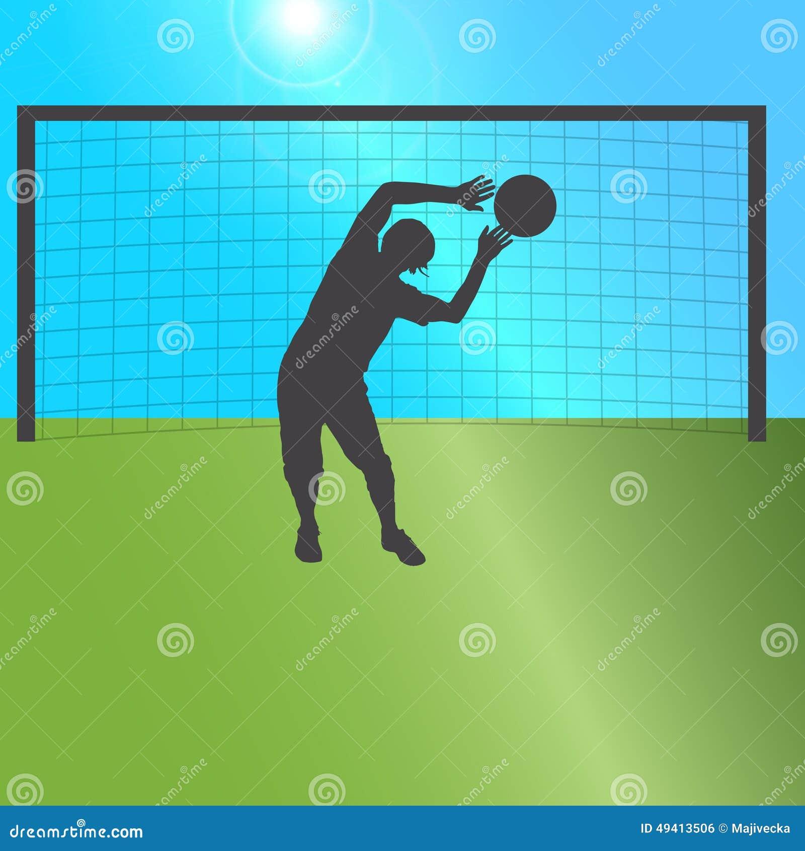 Download Vektorschattenbild Eines Mannes Vektor Abbildung - Illustration von spaß, fußball: 49413506
