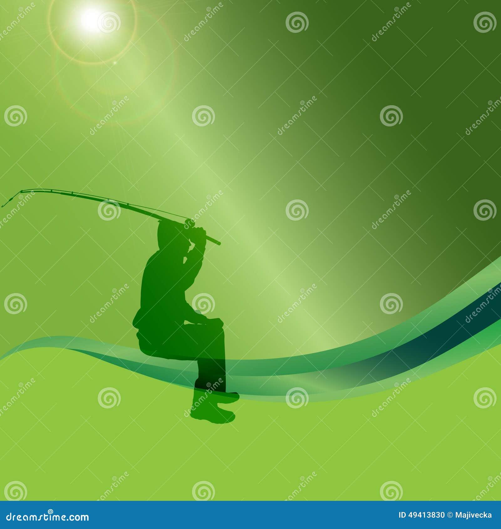 Download Vektorschattenbild Eines Mannes, Der Fischt Vektor Abbildung - Illustration von bandspule, leute: 49413830