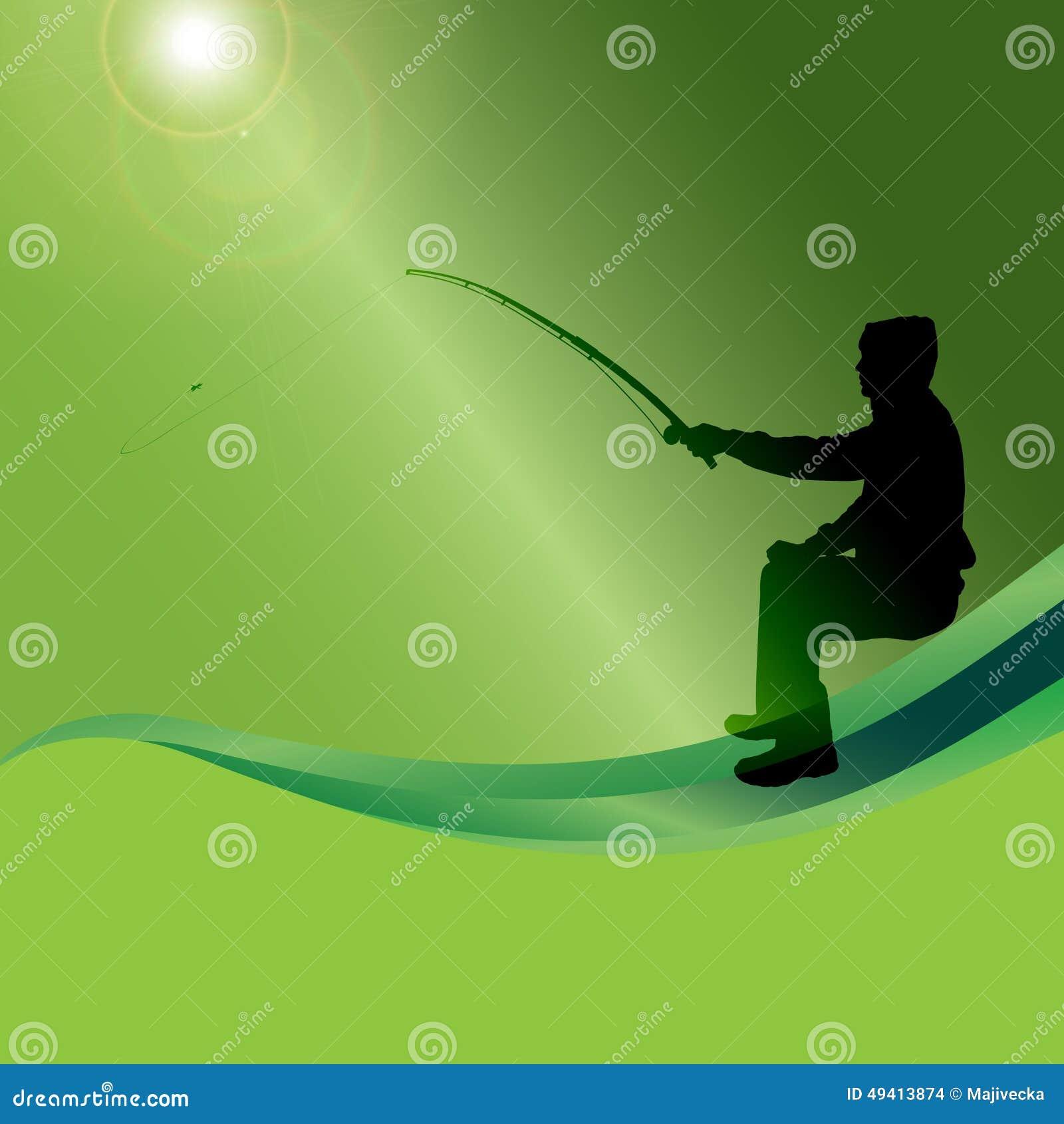 Download Vektorschattenbild Eines Mannes, Der Fischt Vektor Abbildung - Illustration von jagd, nave: 49413874