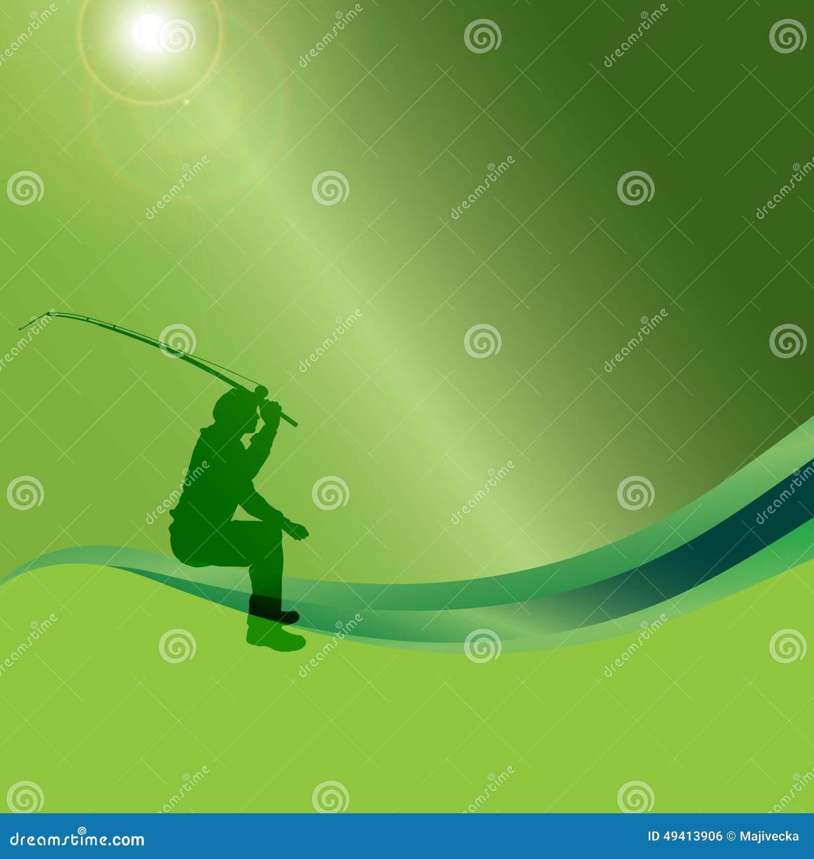 Download Vektorschattenbild Eines Mannes, Der Fischt Vektor Abbildung - Illustration von vektor, sport: 49413906