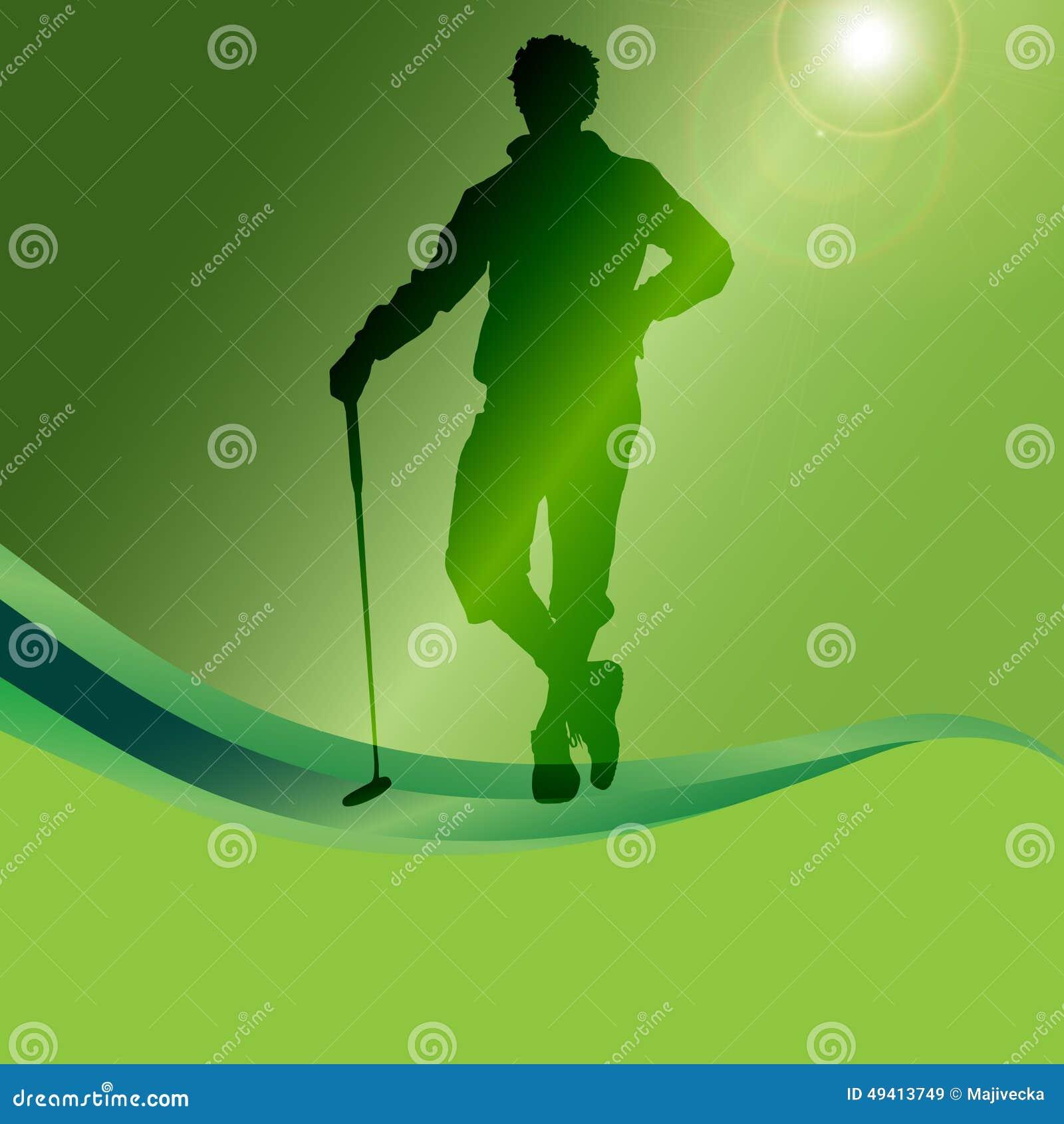 Download Vektorschattenbild Eines Mannes, Der Golf Spielt Vektor Abbildung - Illustration von frau, spieler: 49413749