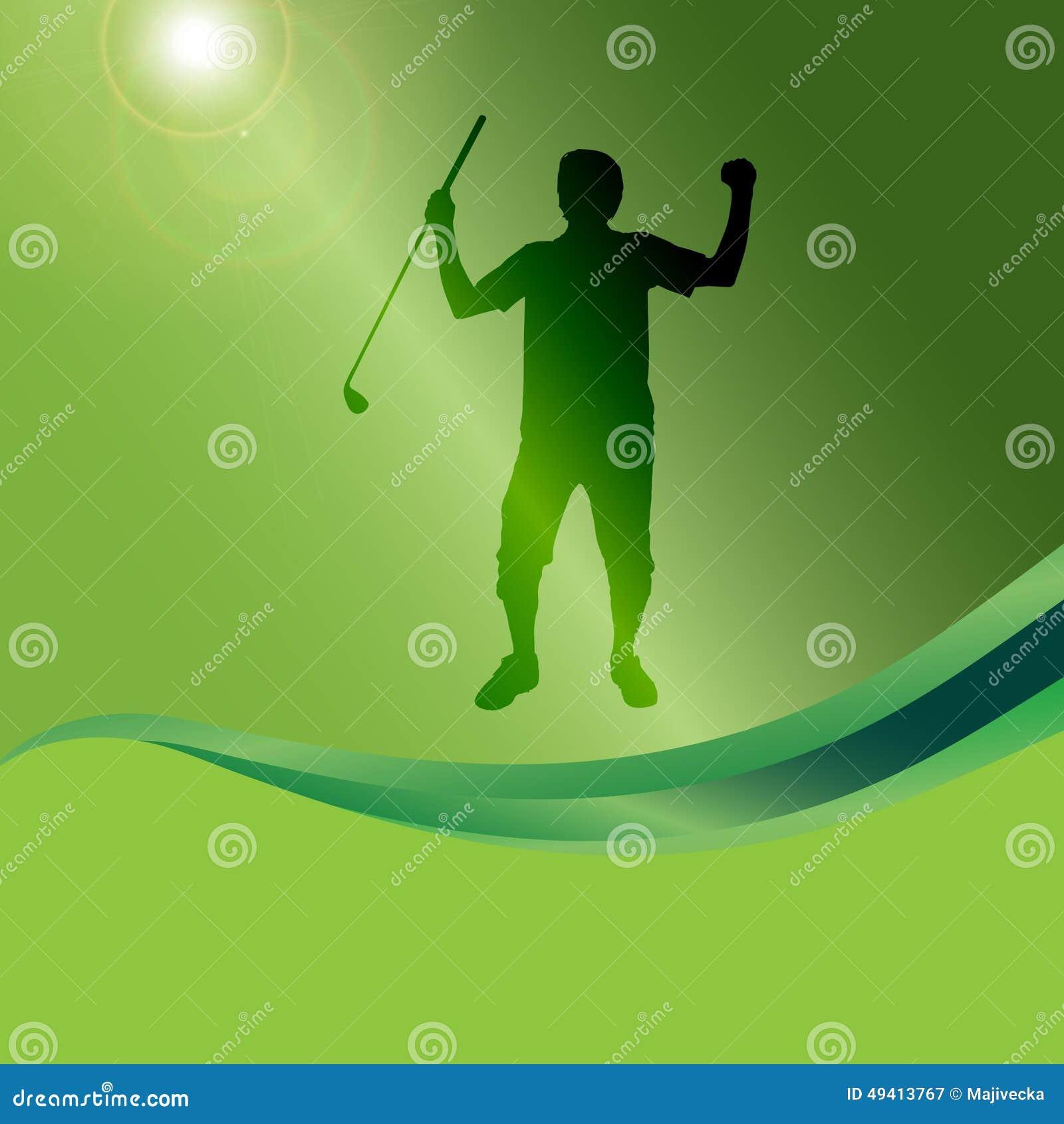 Download Vektorschattenbild Eines Mannes, Der Golf Spielt Vektor Abbildung - Illustration von spaß, erholung: 49413767