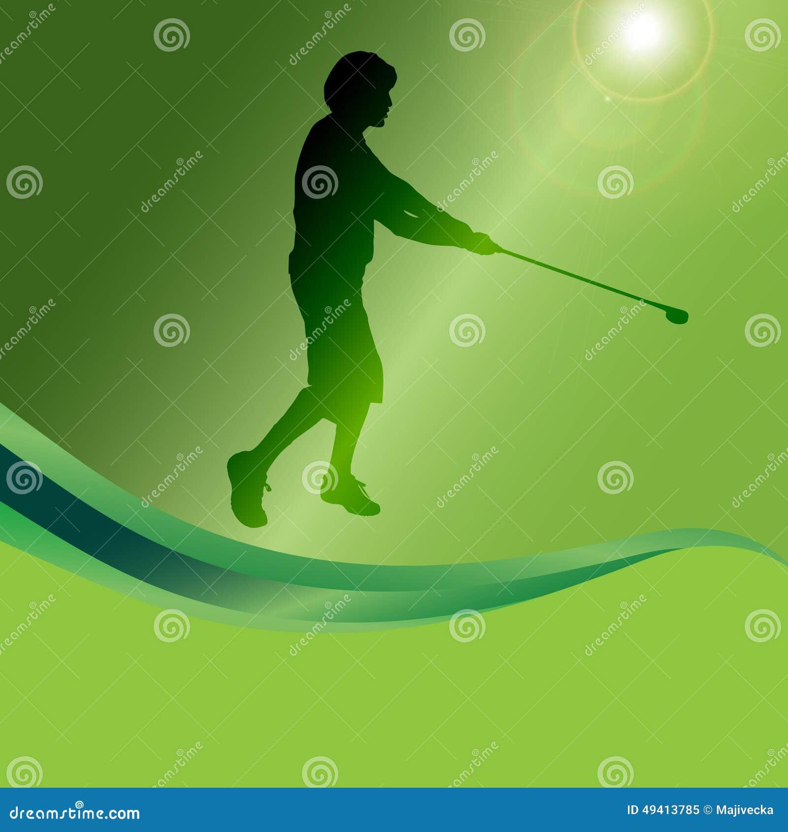 Download Vektorschattenbild Eines Mannes, Der Golf Spielt Vektor Abbildung - Illustration von schattenbild, gras: 49413785