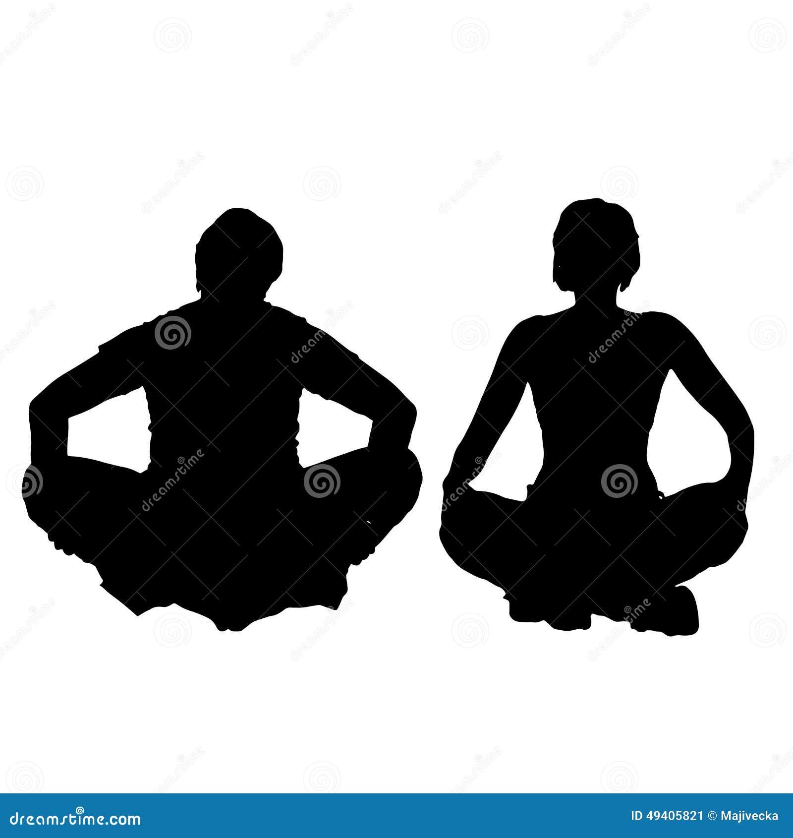 Download Vektorschattenbild Eines Paares Vektor Abbildung - Illustration von person, meditation: 49405821