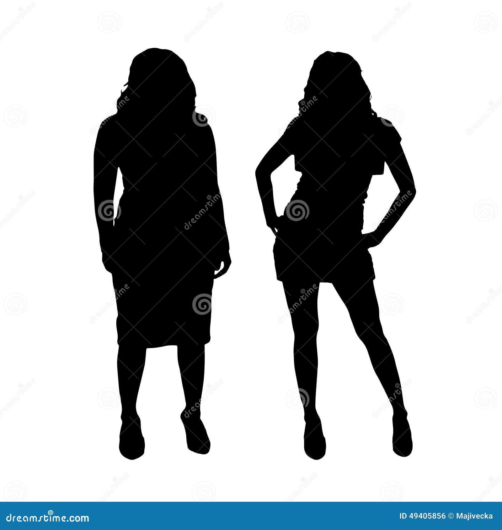 Download Vektorschattenbild Eines Paares Vektor Abbildung - Illustration von schattenbild, eignung: 49405856