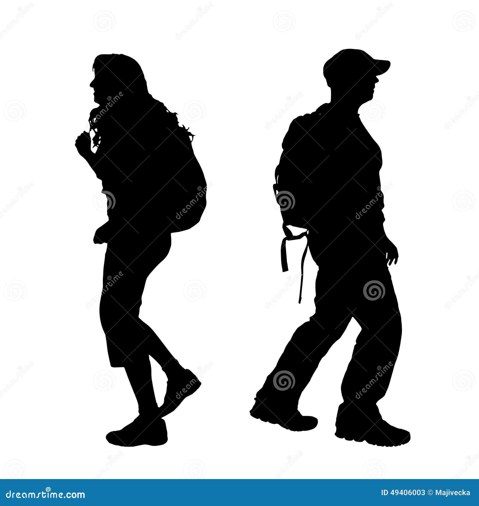 Download Vektorschattenbild Eines Paares Vektor Abbildung - Illustration von lebensstil, mädchen: 49406003