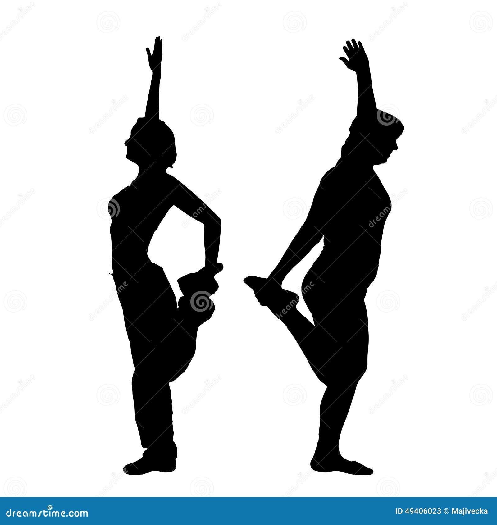 Download Vektorschattenbild Eines Paares Vektor Abbildung - Illustration von gesund, schönheit: 49406023