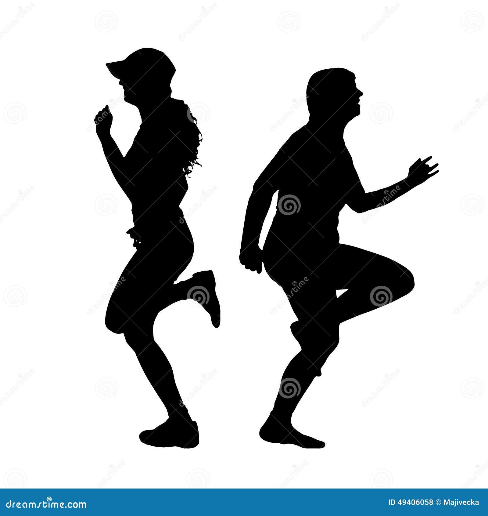 Download Vektorschattenbild Eines Paares Vektor Abbildung - Illustration von person, überladen: 49406058