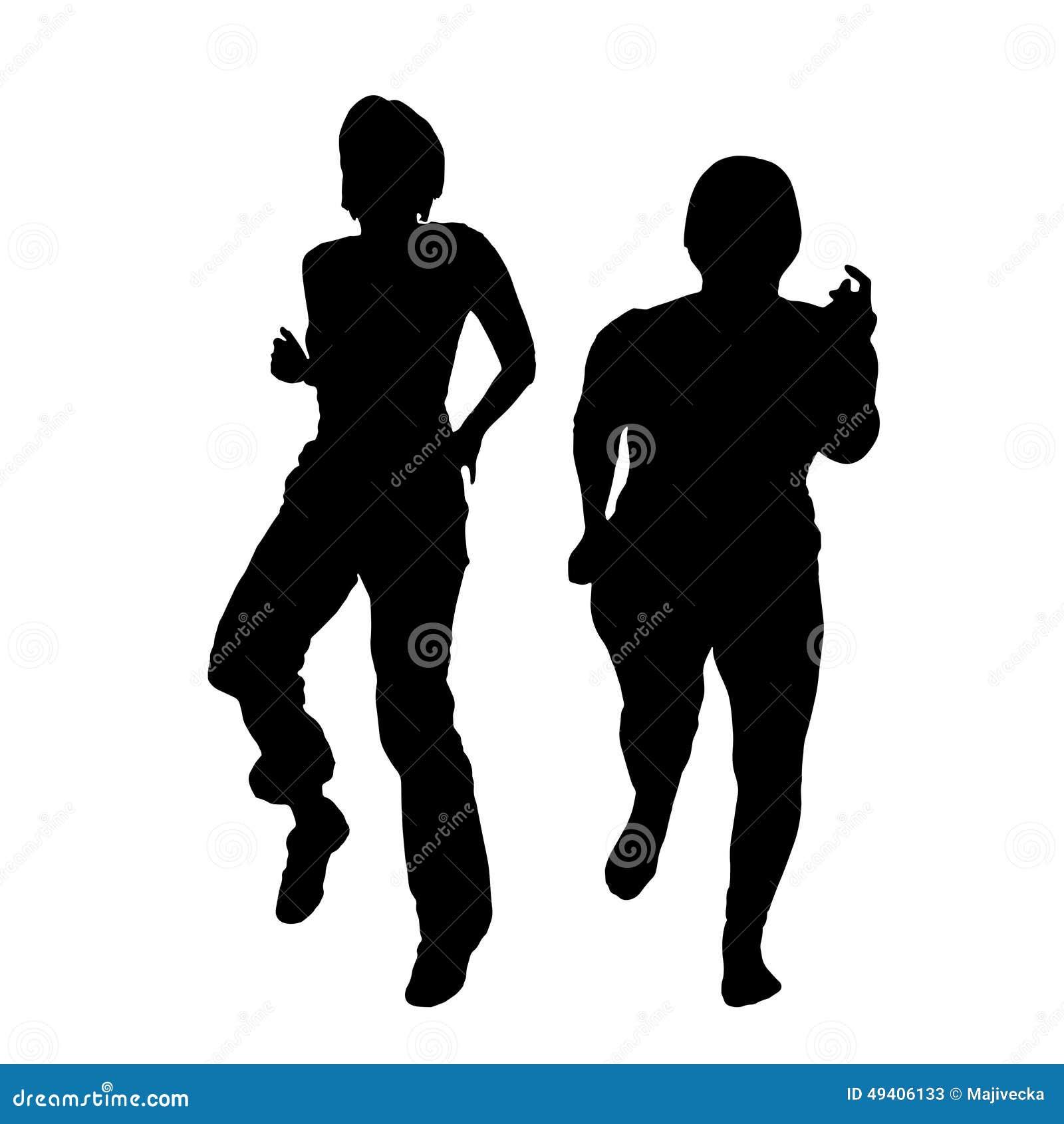 Download Vektorschattenbild Eines Paares Vektor Abbildung - Illustration von mädchen, erwachsener: 49406133