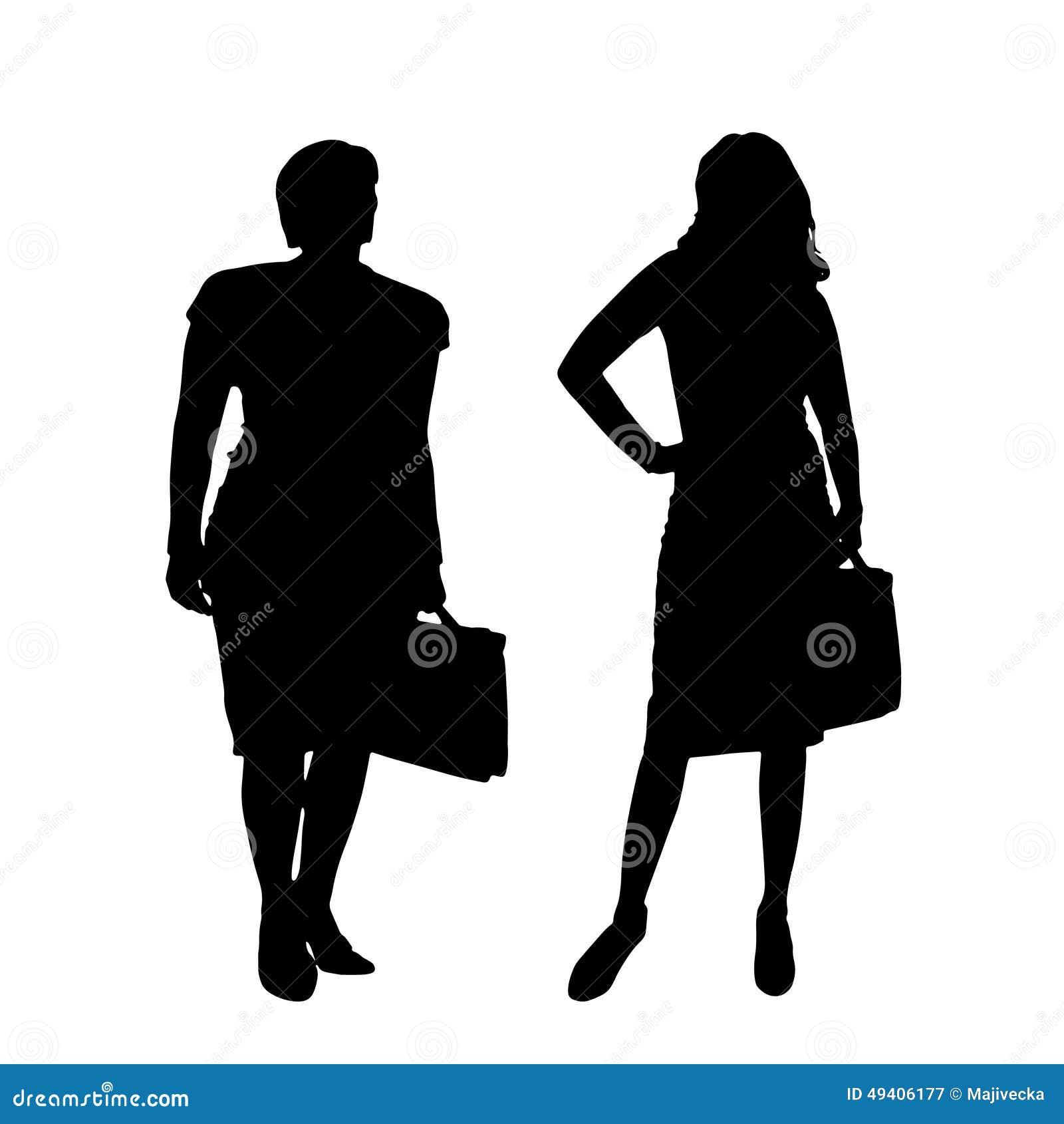 Download Vektorschattenbild Eines Paares Vektor Abbildung - Illustration von baumuster, änderung: 49406177