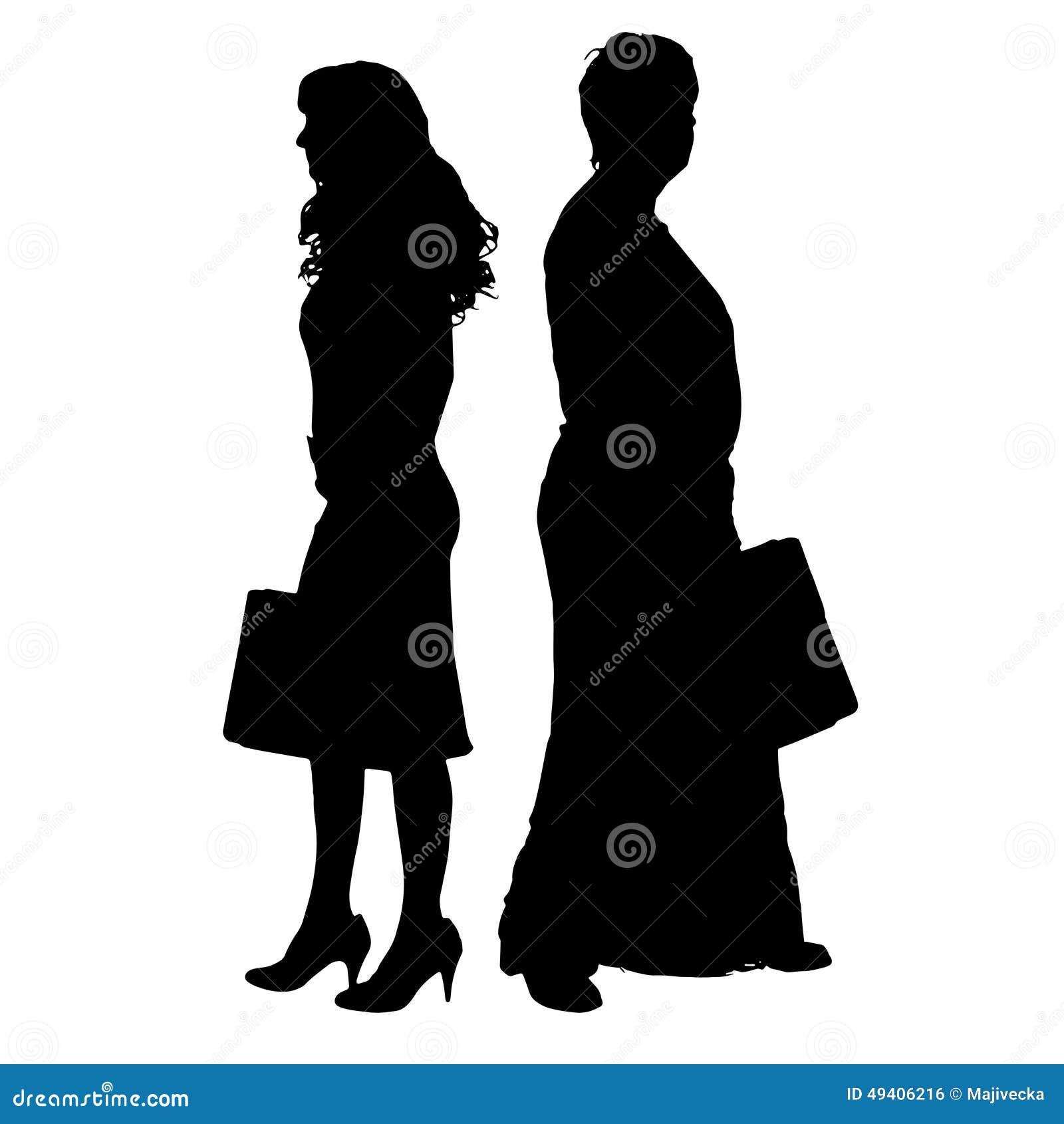 Download Vektorschattenbild Eines Paares Vektor Abbildung - Illustration von erwachsener, leute: 49406216