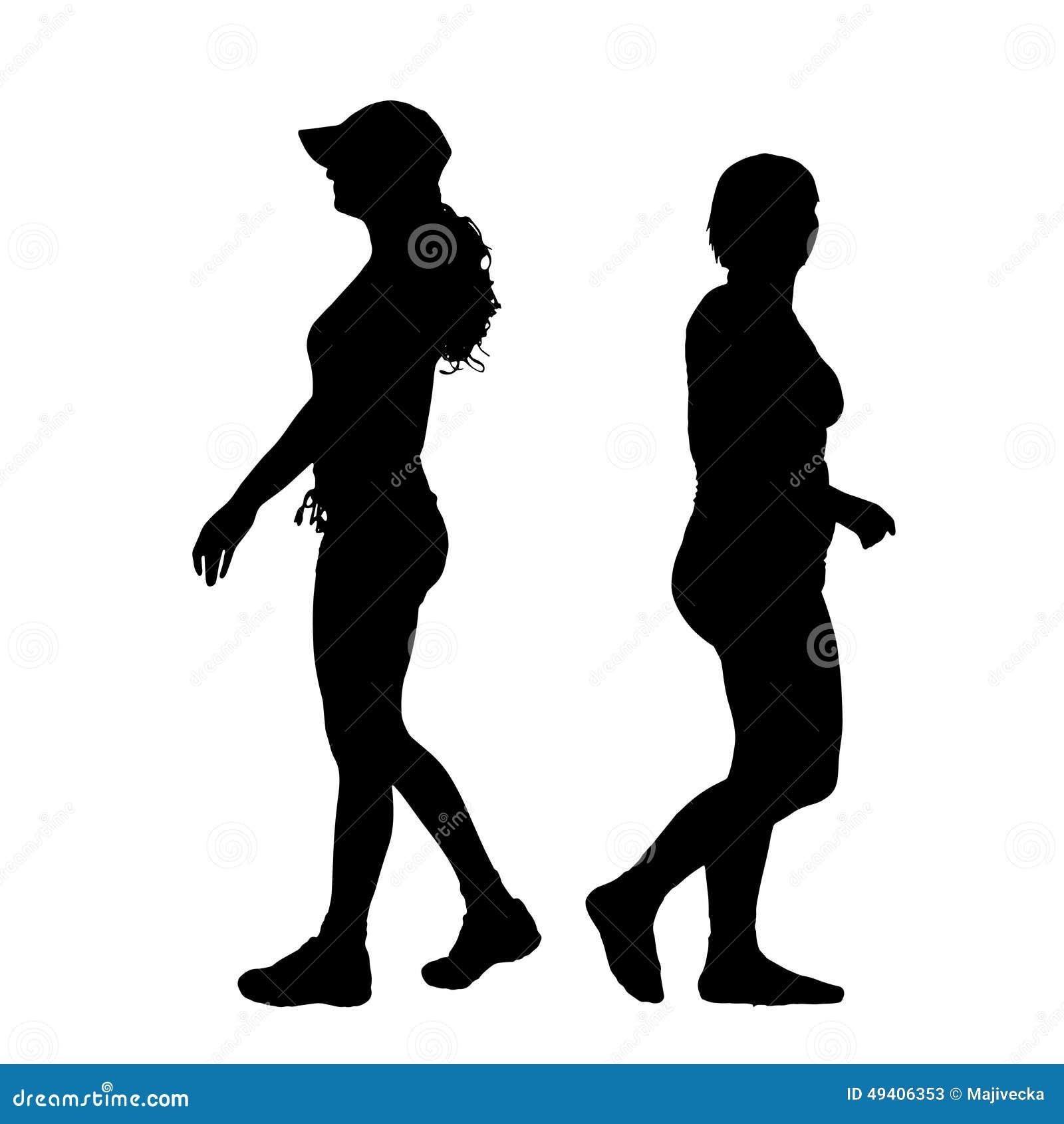 Download Vektorschattenbild Eines Paares Vektor Abbildung - Illustration von schattenbild, änderung: 49406353