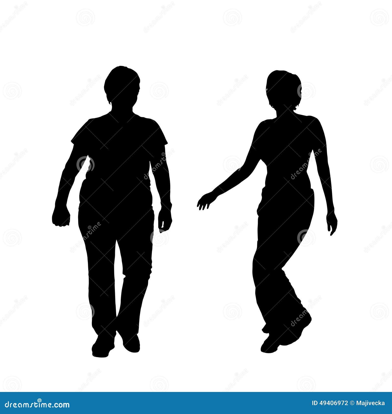Download Vektorschattenbild Eines Paares Vektor Abbildung - Illustration von diät, beleibt: 49406972