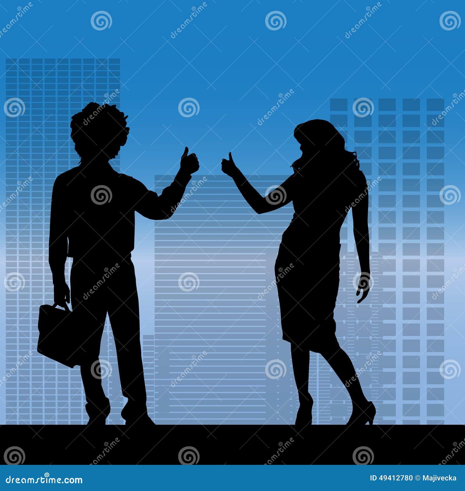 Download Vektorschattenbild Von Geschäftsleute Vektor Abbildung - Illustration von büro, skyline: 49412780