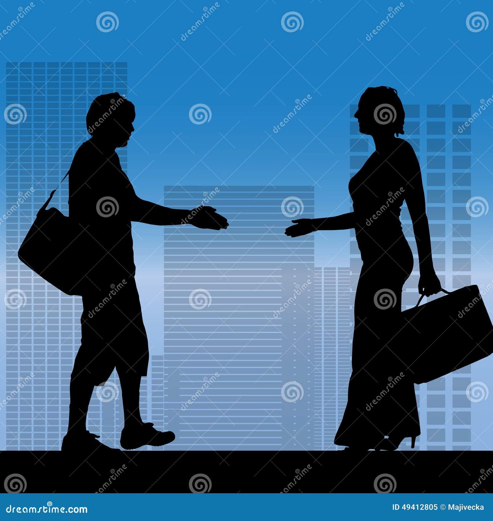 Download Vektorschattenbild Von Geschäftsleute Vektor Abbildung - Illustration von person, geschäft: 49412805