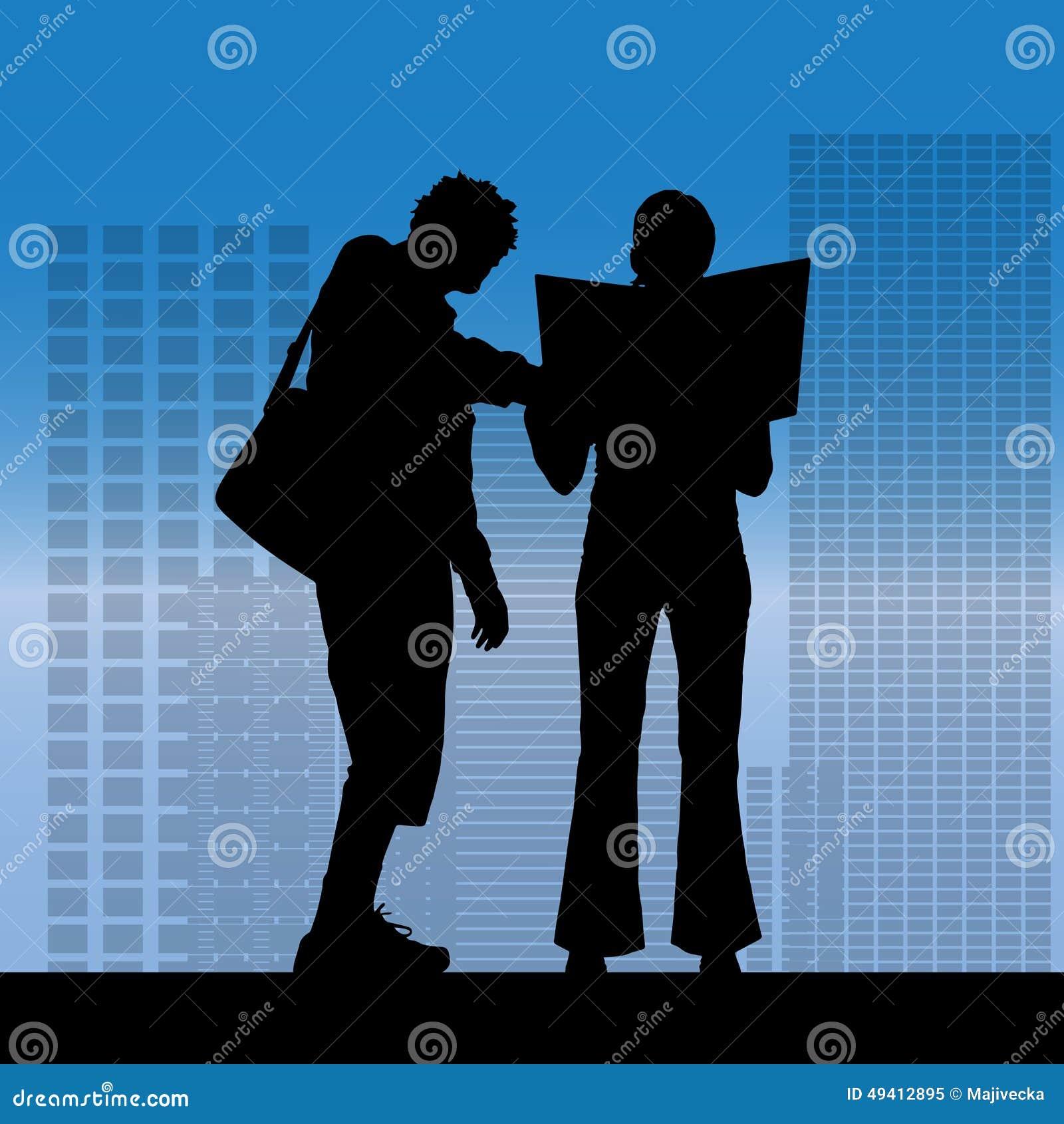 Download Vektorschattenbild Von Geschäftsleute Vektor Abbildung - Illustration von hintergrund, büro: 49412895